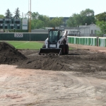 Aug 22 Optimist Park Field Renovations: New Top Soil Going In, after 45 dump trucks of dirt and grass removed! Pics and Video...check back for more!