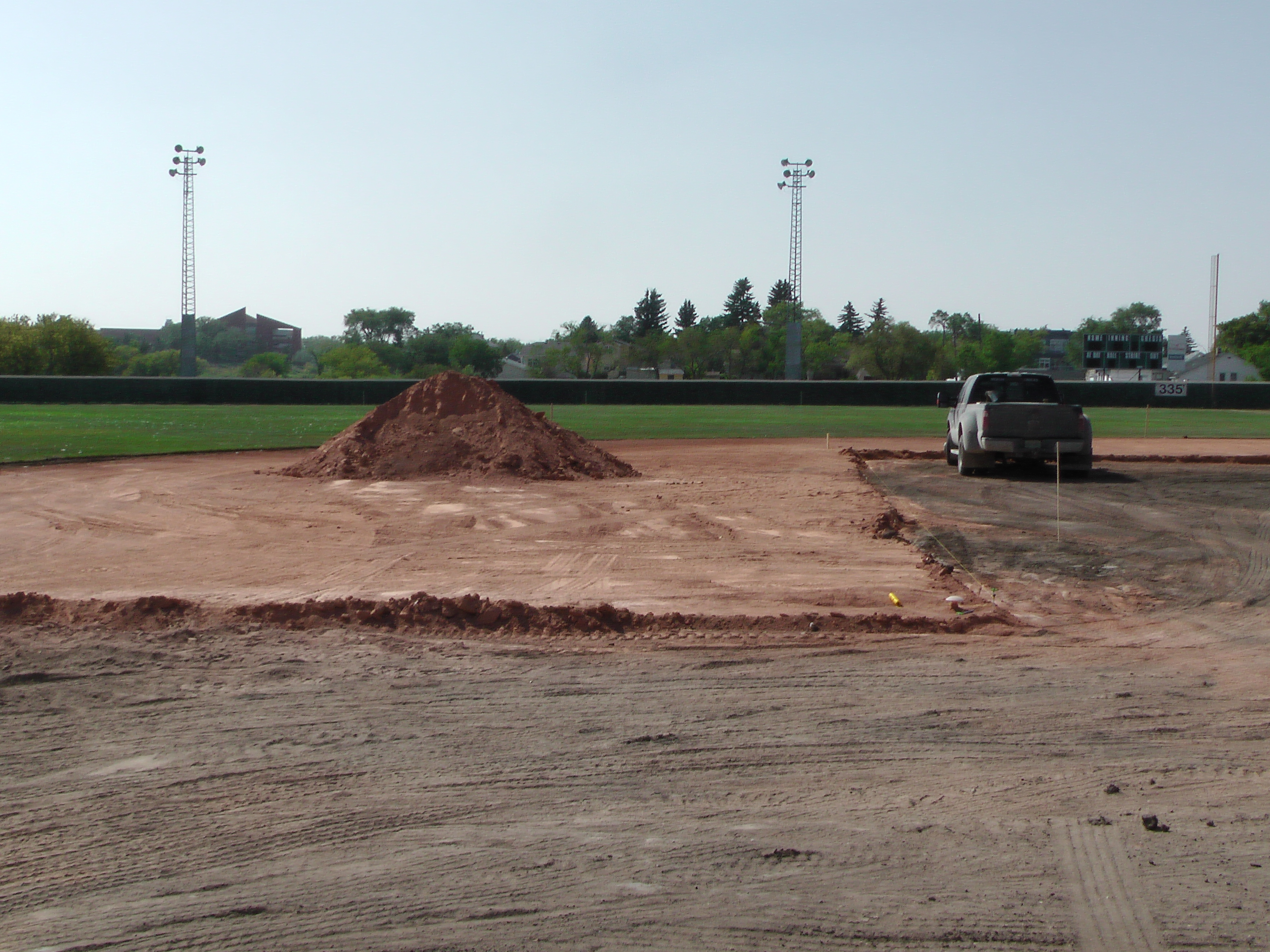 Aug 22 Optimist Park Field Renovations: New Top Soil Going In, after 45 dump trucks of dirt and grass removed! Pics and Video...check back for more!  - Image 1