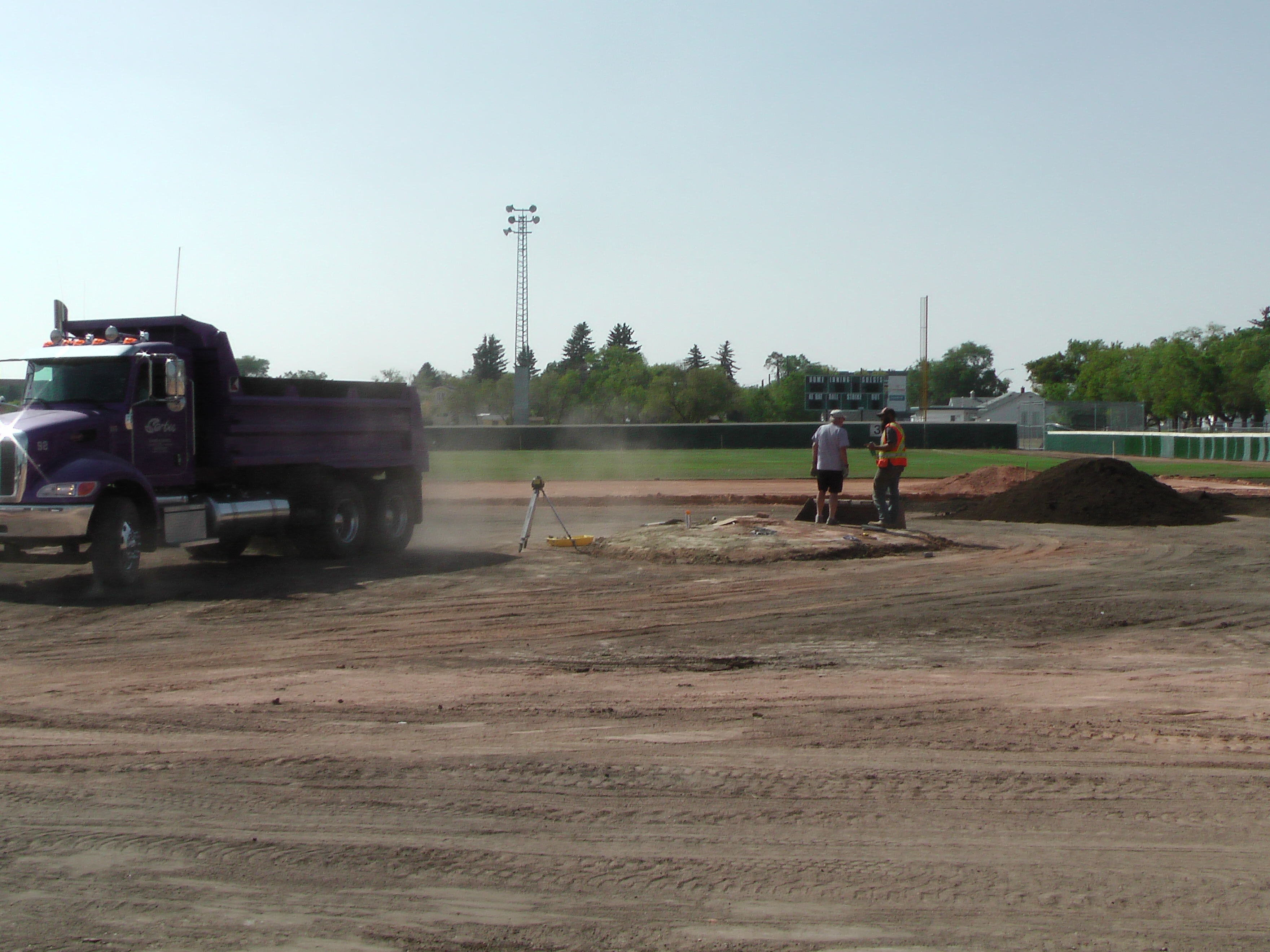 Aug 22 Optimist Park Field Renovations: New Top Soil Going In, after 45 dump trucks of dirt and grass removed! Pics and Video...check back for more!  - Image 10