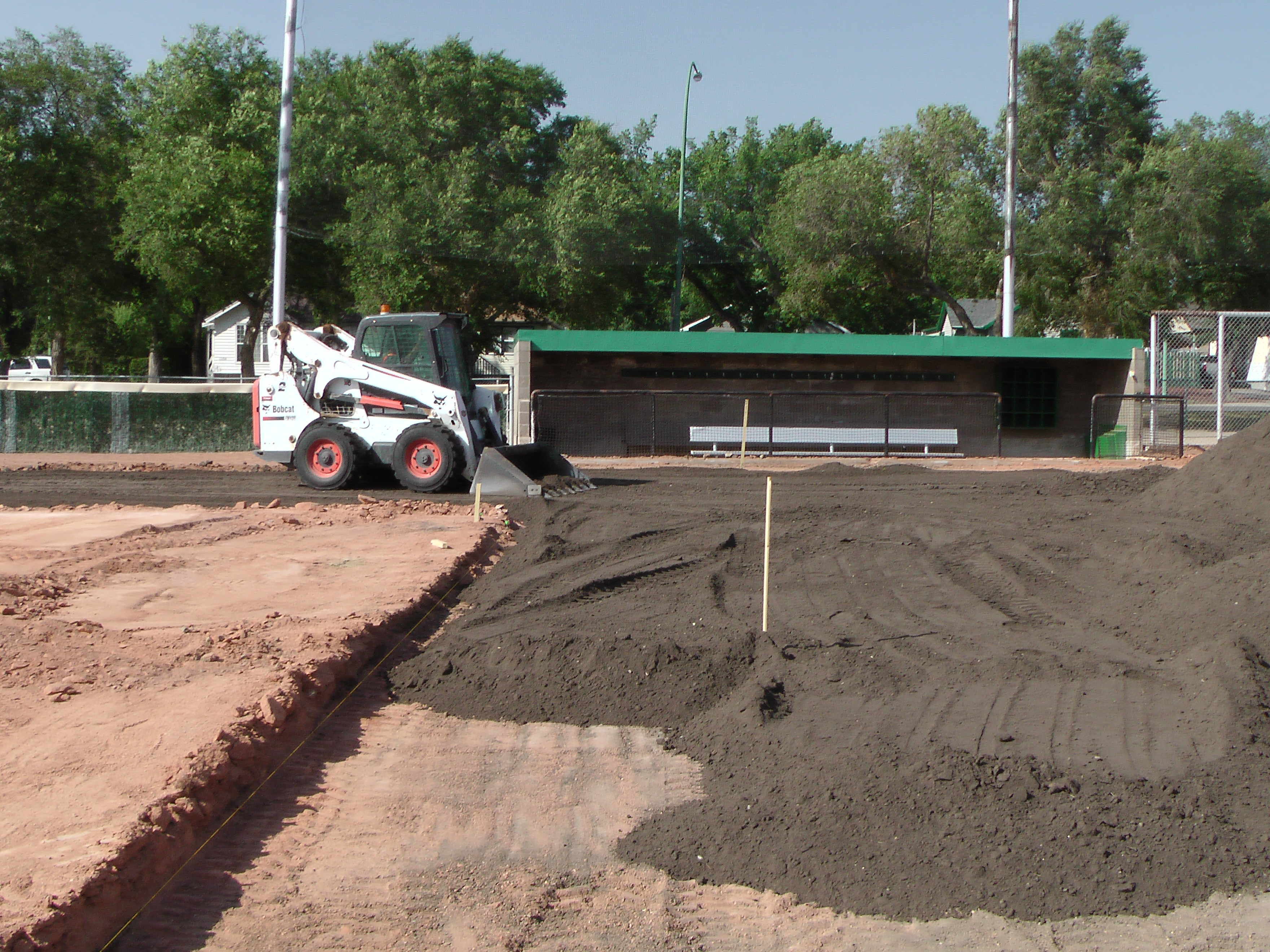 Aug 22 Optimist Park Field Renovations: New Top Soil Going In, after 45 dump trucks of dirt and grass removed! Pics and Video...check back for more!  - Image 12