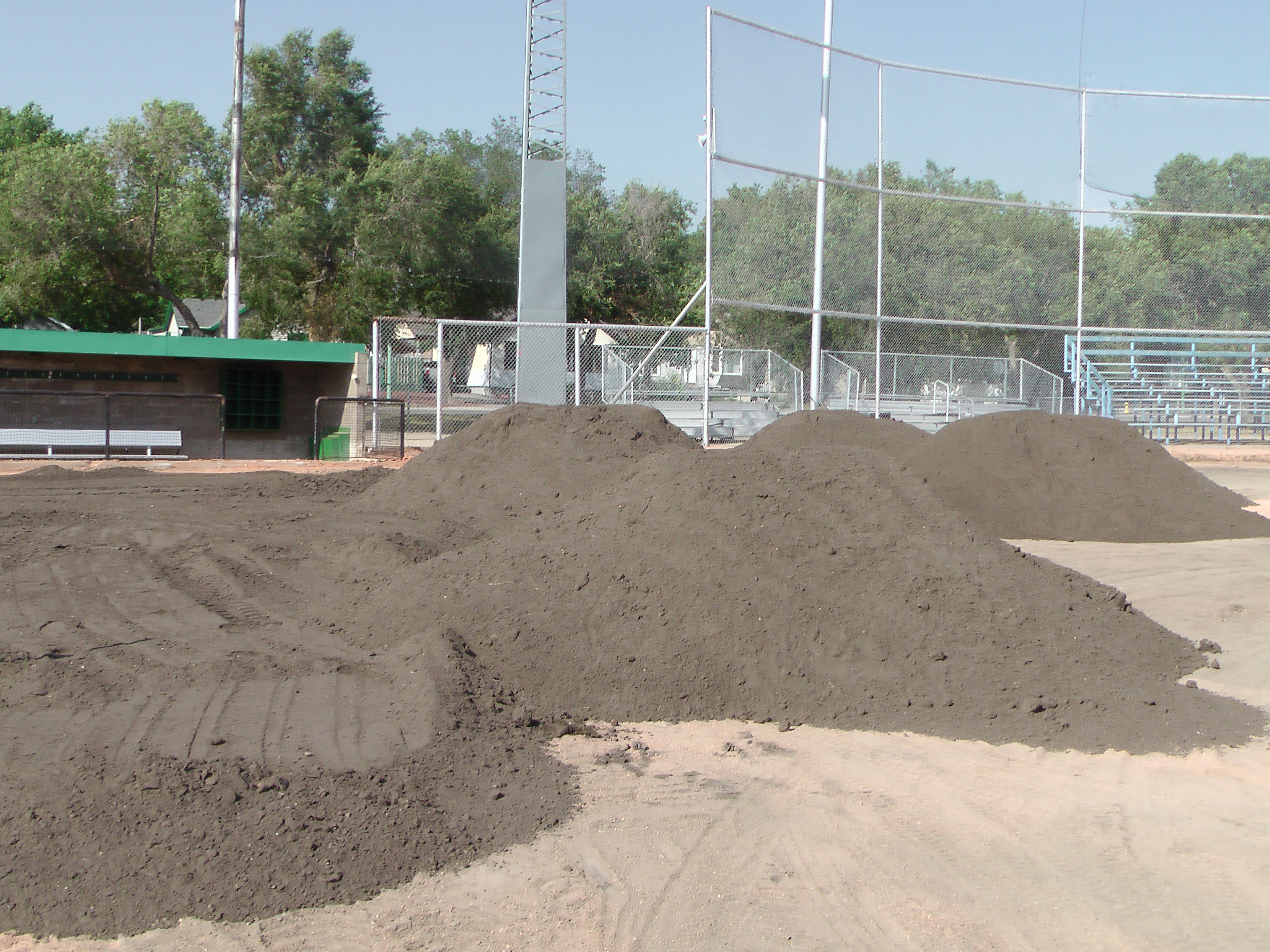 Aug 22 Optimist Park Field Renovations: New Top Soil Going In, after 45 dump trucks of dirt and grass removed! Pics and Video...check back for more!  - Image 14