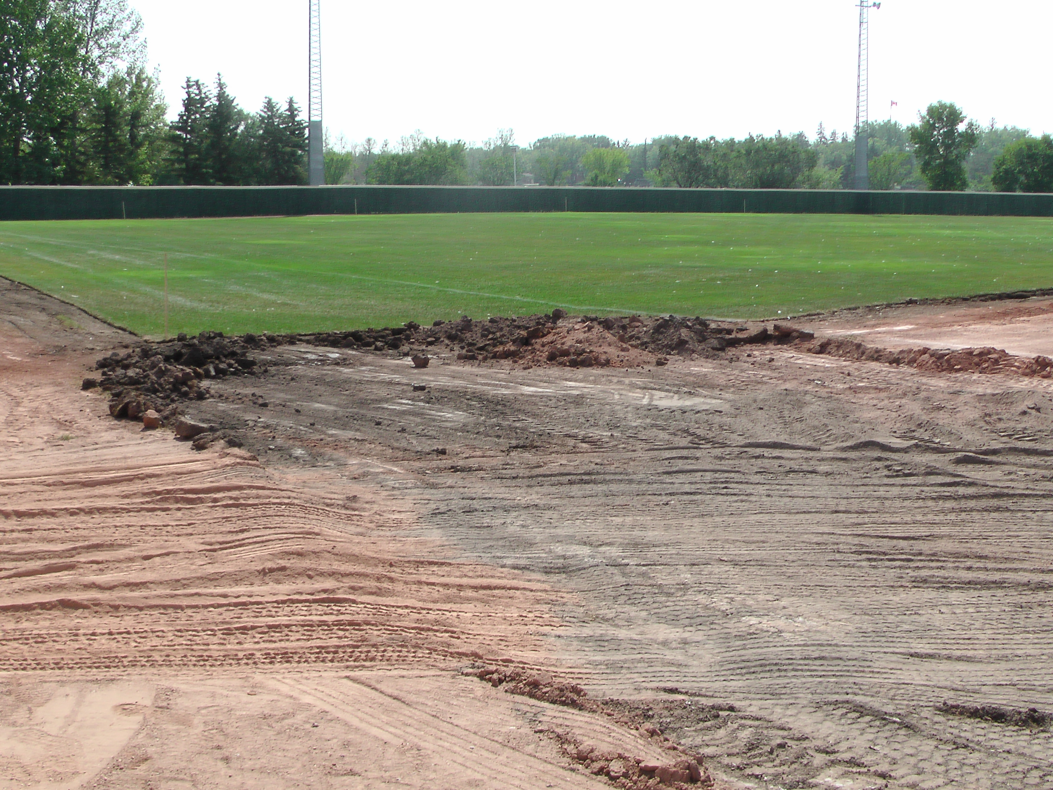Aug 22 Optimist Park Field Renovations: New Top Soil Going In, after 45 dump trucks of dirt and grass removed! Pics and Video...check back for more!  - Image 2