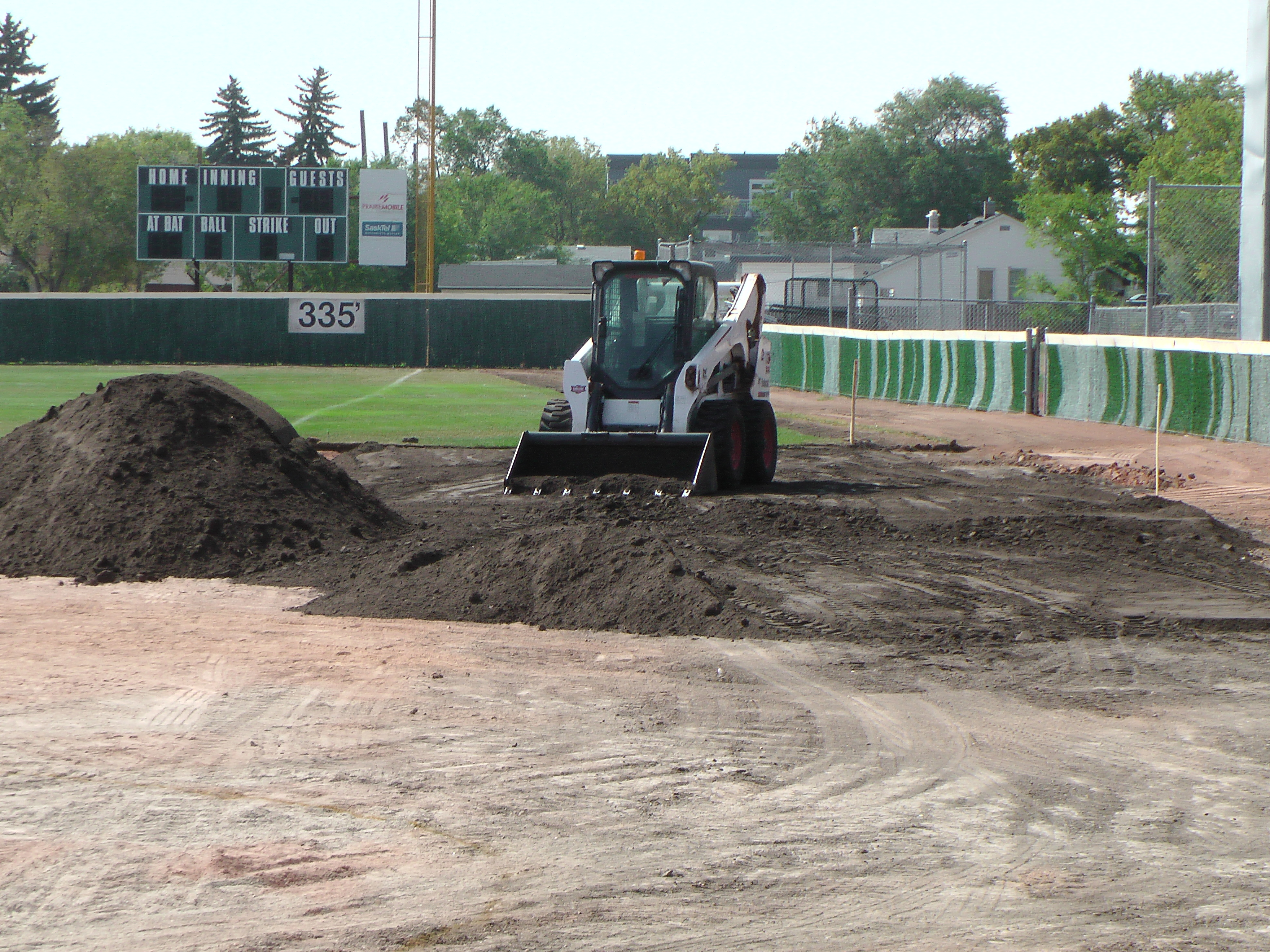Aug 22 Optimist Park Field Renovations: New Top Soil Going In, after 45 dump trucks of dirt and grass removed! Pics and Video...check back for more!  - Image 3