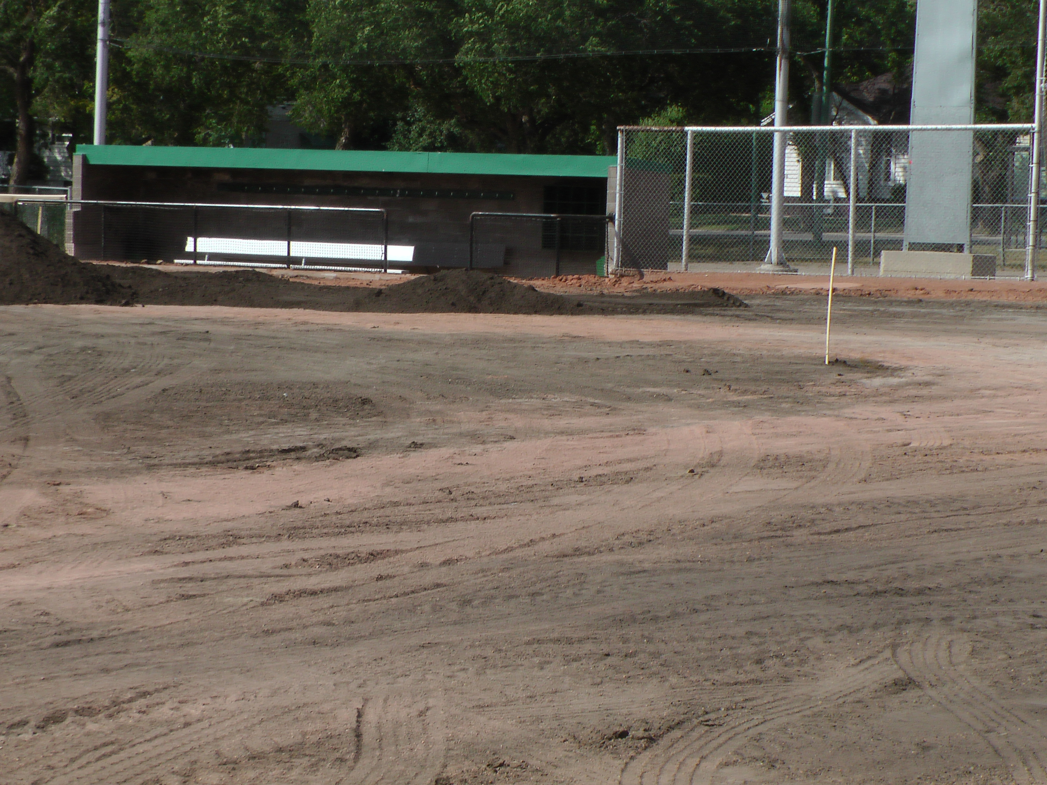 Aug 22 Optimist Park Field Renovations: New Top Soil Going In, after 45 dump trucks of dirt and grass removed! Pics and Video...check back for more!  - Image 7