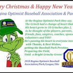 Merry Christmas & Happy New Year from The Regina Optimist Baseball Association!!!