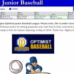 Regina Optimist Junior Baseball League, BallCharts Linked Site! New!