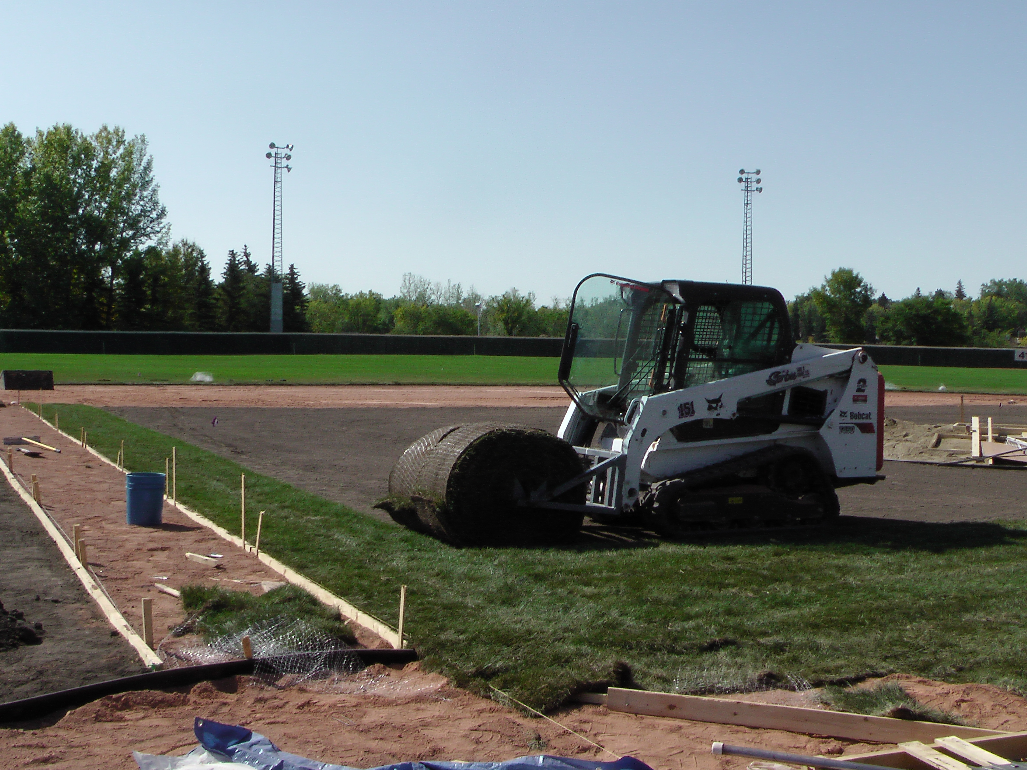 Sept 5 2018 Optimist Park Field Renovations, Placing New Sod/Leveling! - Image 1