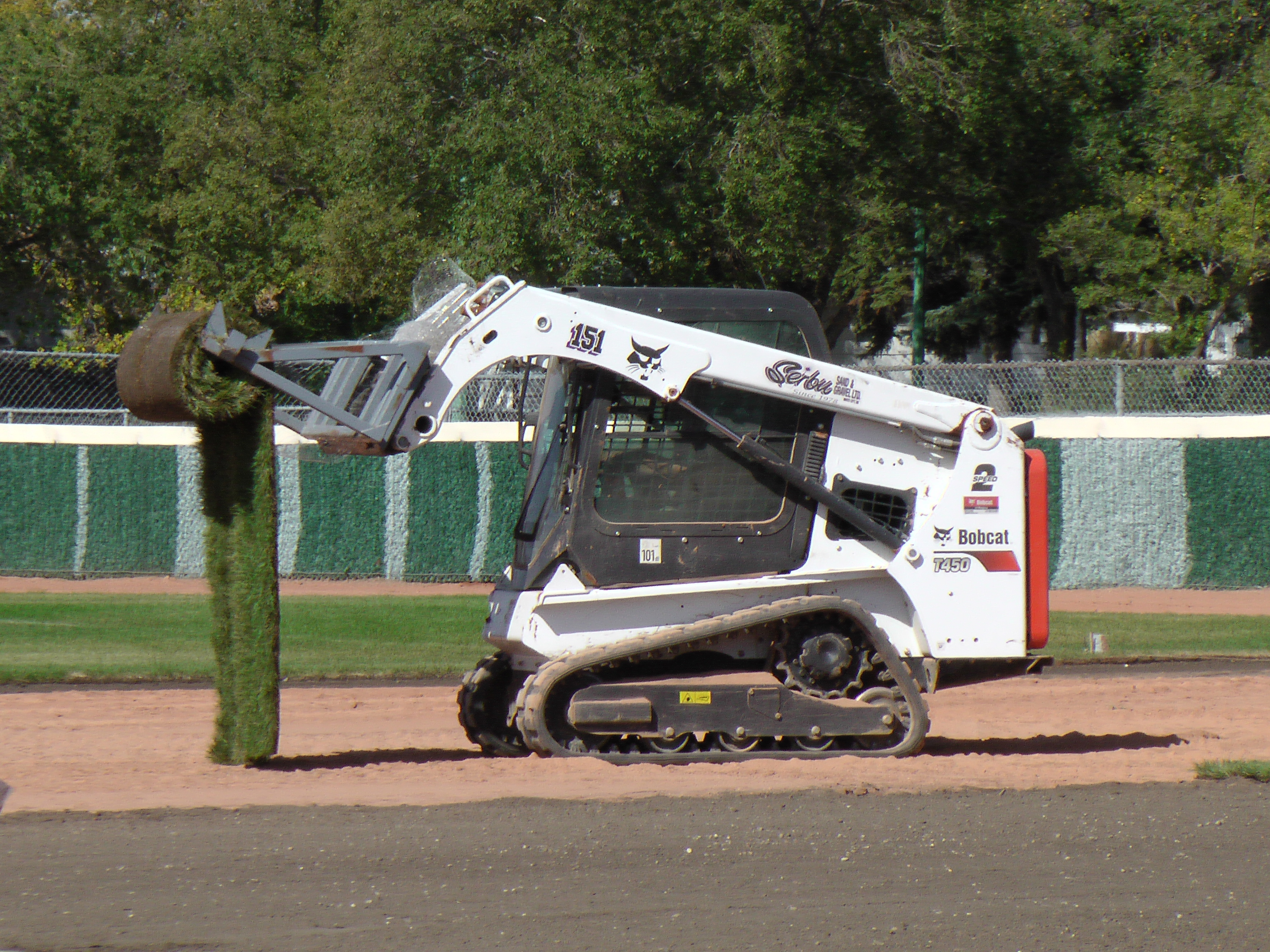 Sept 5 2018 Optimist Park Field Renovations, Placing New Sod/Leveling! - Image 10