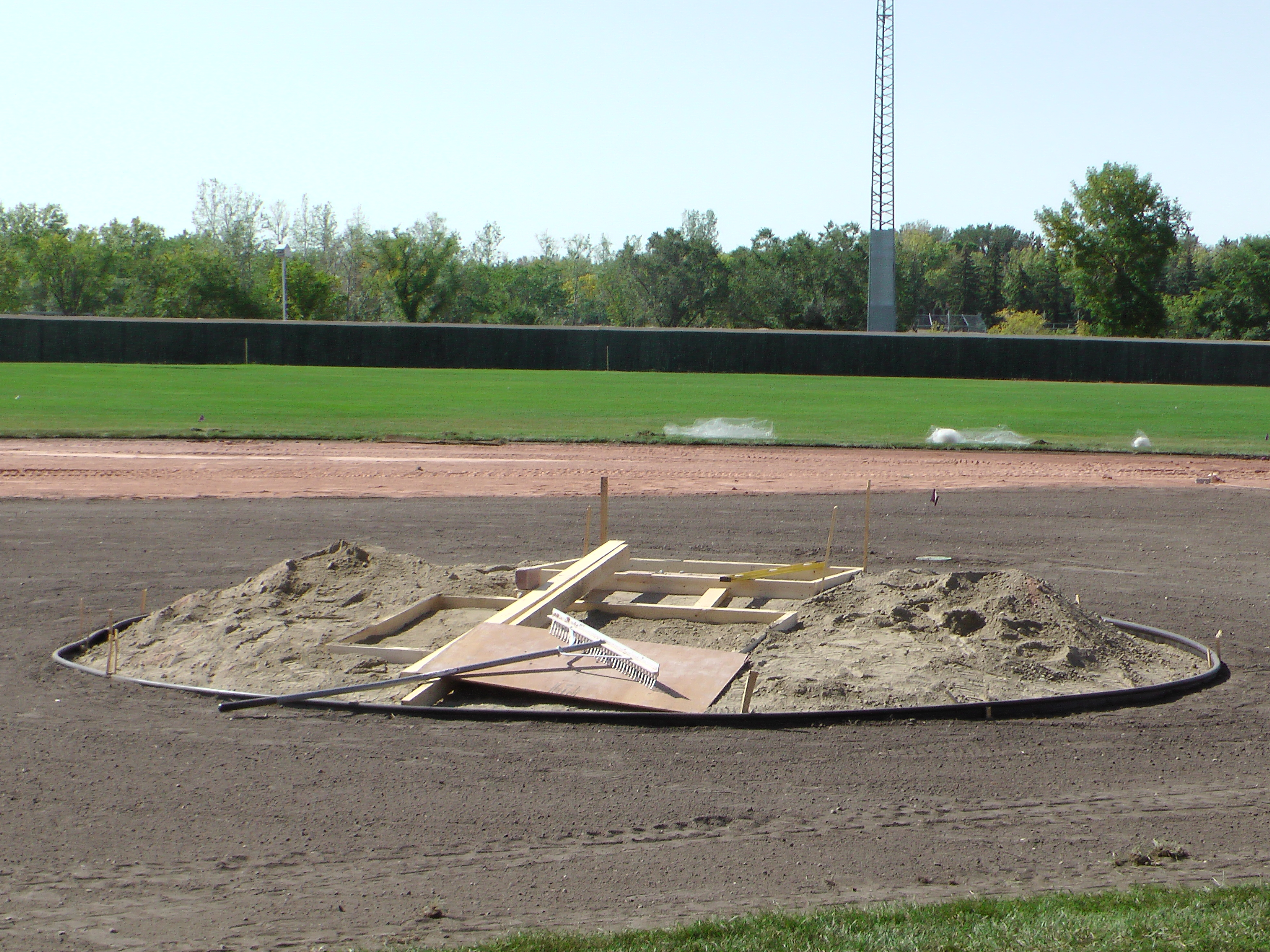Sept 5 2018 Optimist Park Field Renovations, Placing New Sod/Leveling! - Image 13