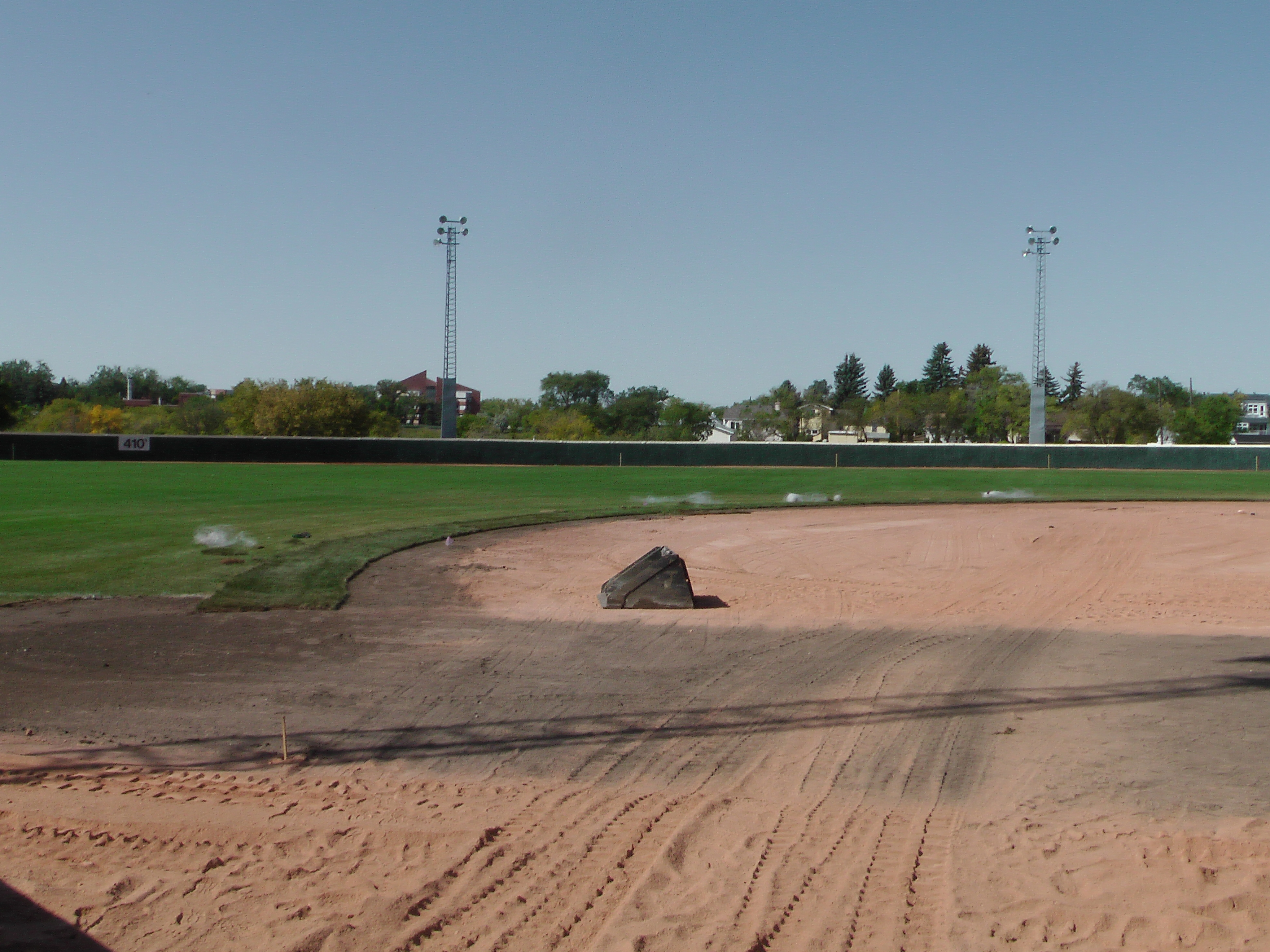 Sept 5 2018 Optimist Park Field Renovations, Placing New Sod/Leveling! - Image 3