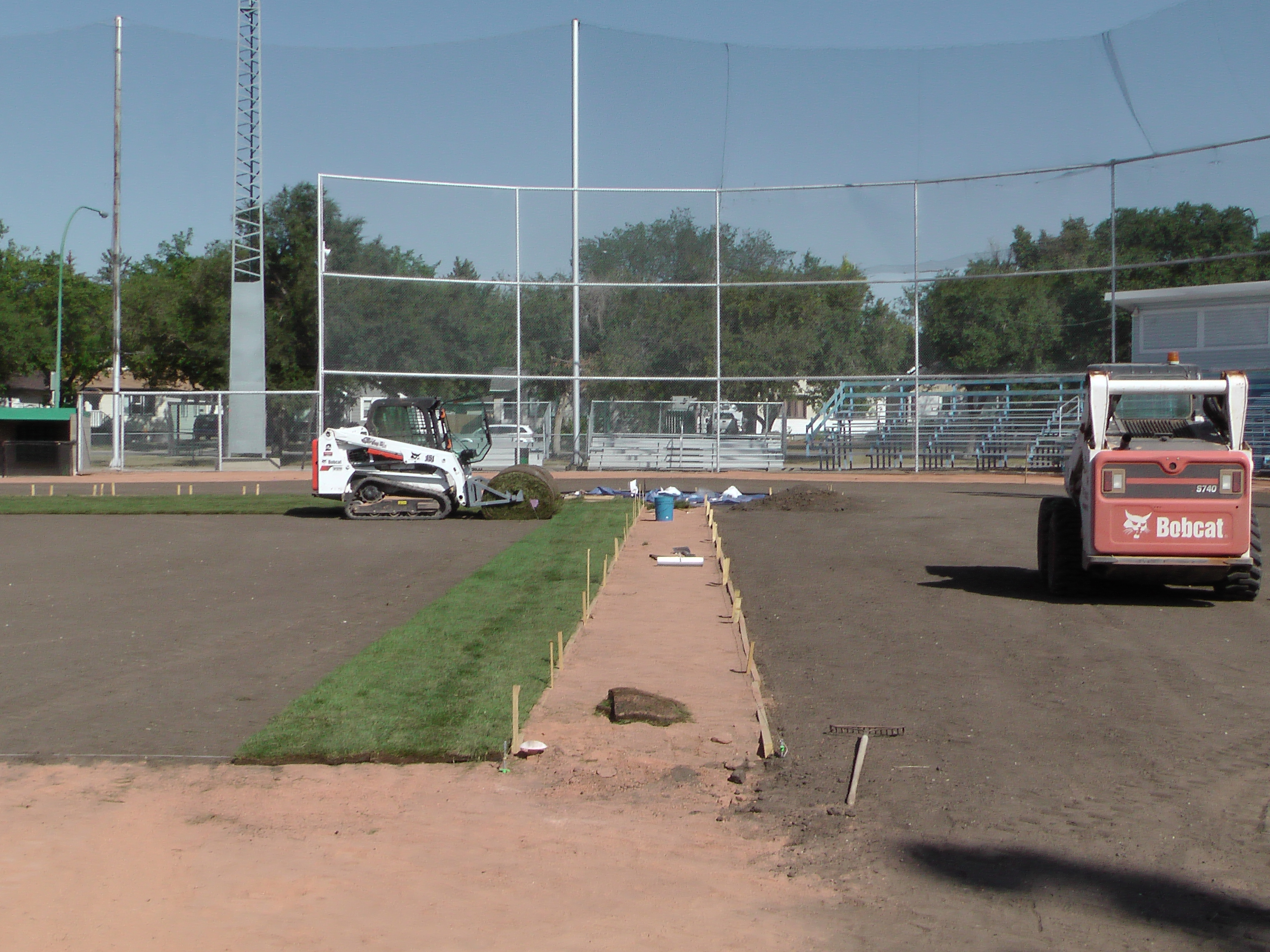 Sept 5 2018 Optimist Park Field Renovations, Placing New Sod/Leveling! - Image 4