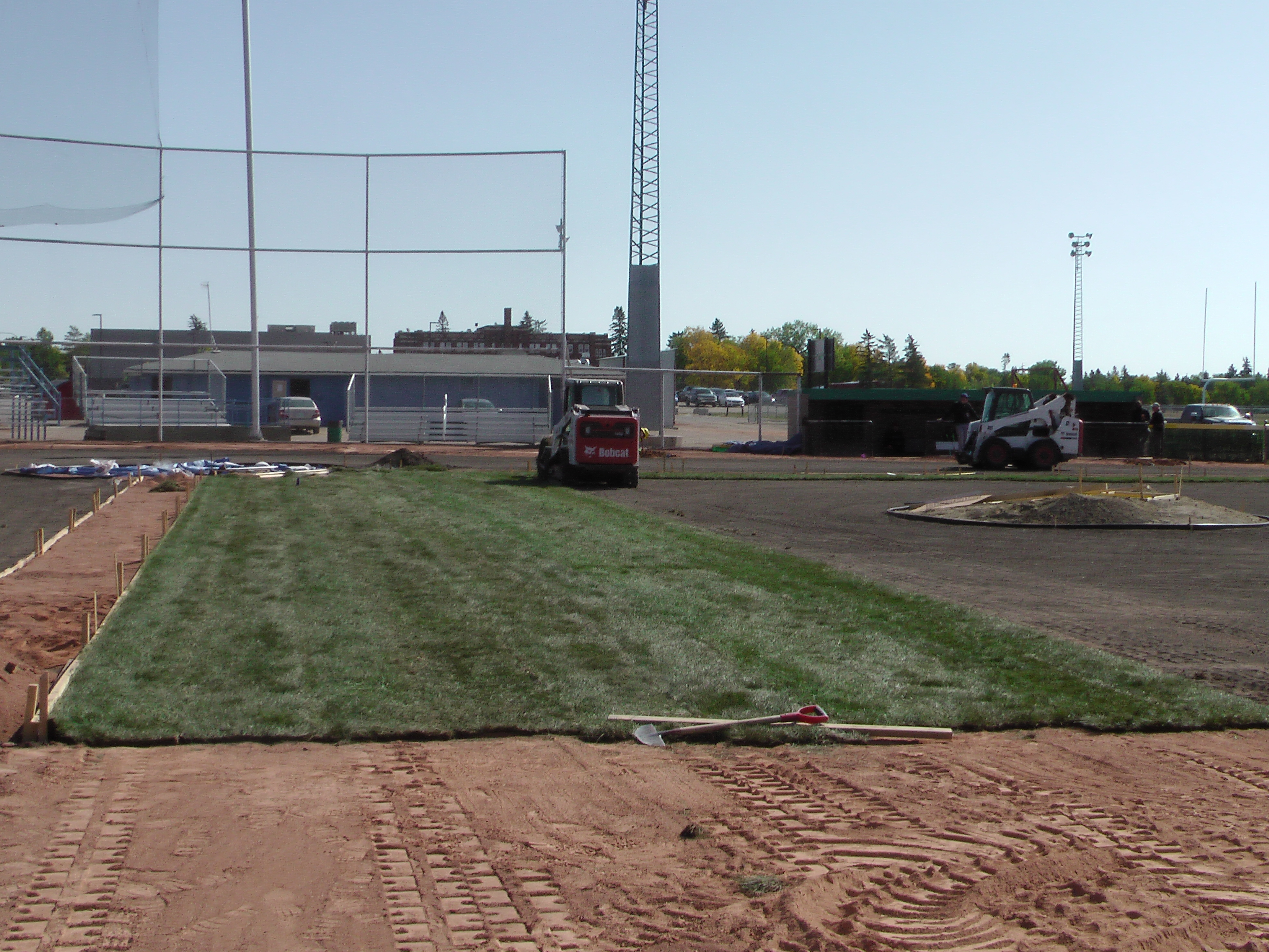 Sept 5 2018 Optimist Park Field Renovations, Placing New Sod/Leveling! - Image 5