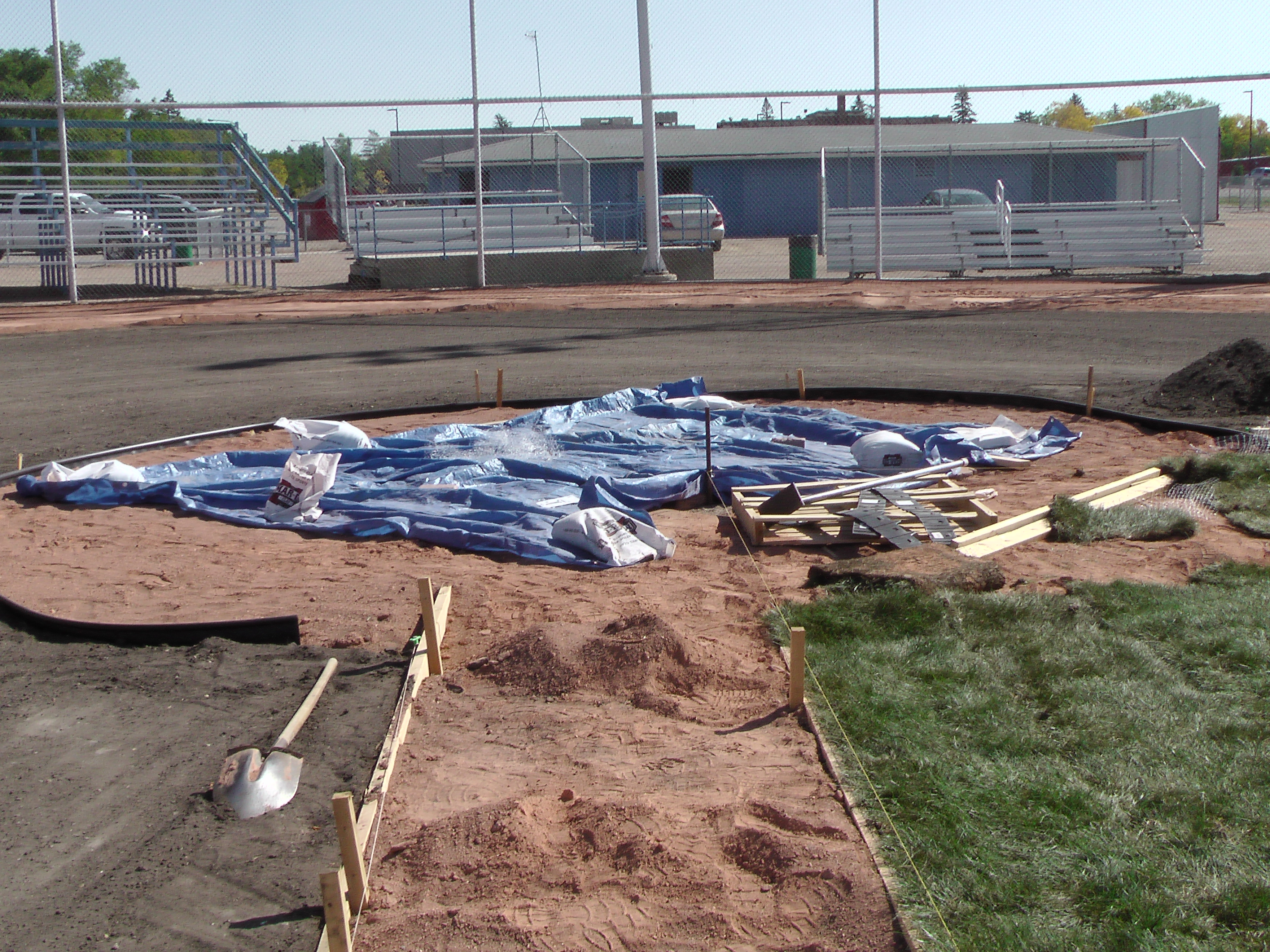Sept 5 2018 Optimist Park Field Renovations, Placing New Sod/Leveling! - Image 6