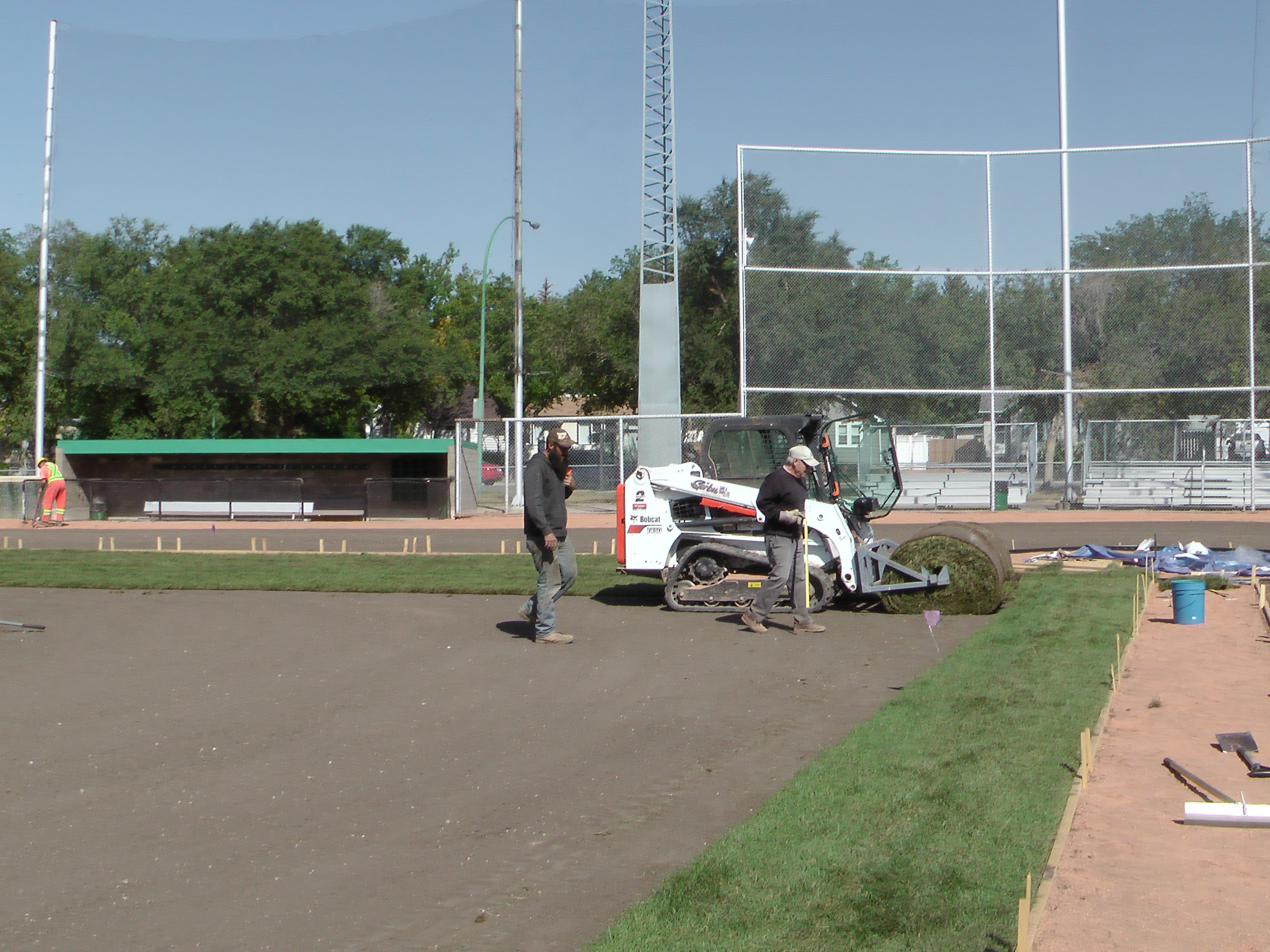 Sept 5 2018 Optimist Park Field Renovations, Placing New Sod/Leveling! - Image 7