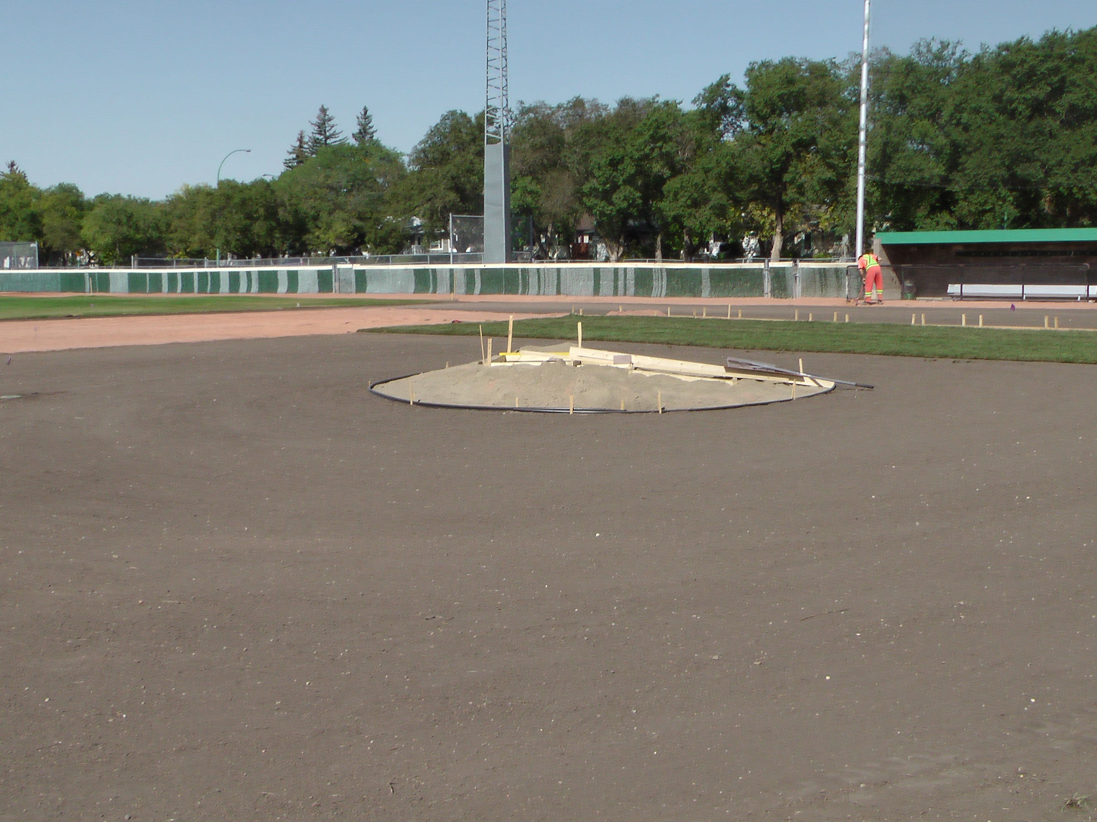 Sept 5 2018 Optimist Park Field Renovations, Placing New Sod/Leveling! - Image 8