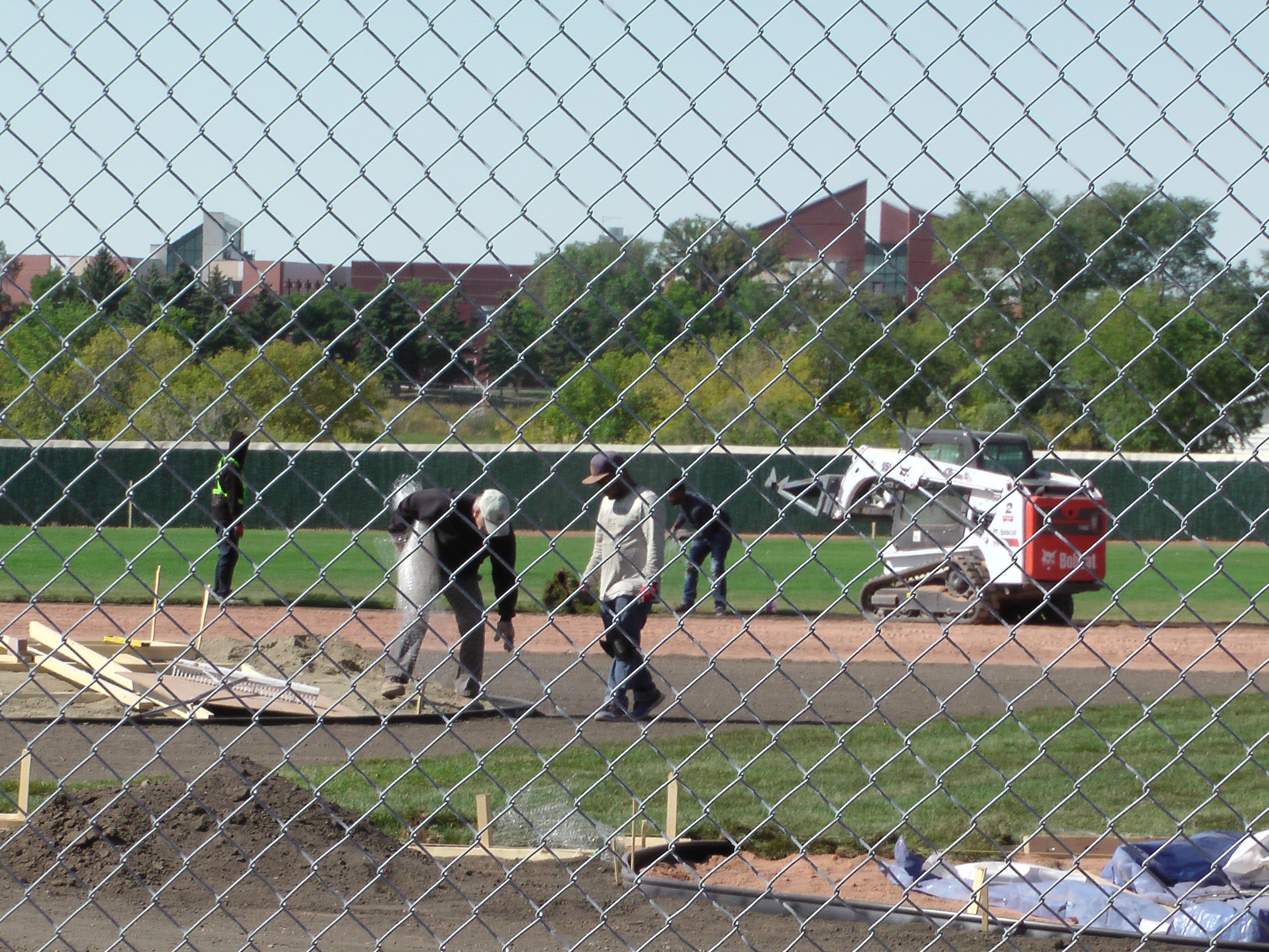Sept 5 2018 Optimist Park Field Renovations, Placing New Sod/Leveling! - Image 9