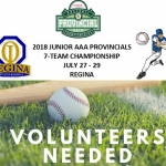 Volunteers Needed July 27/28/29 for Baseball Sask Junior Provincial Tournament In Regina!