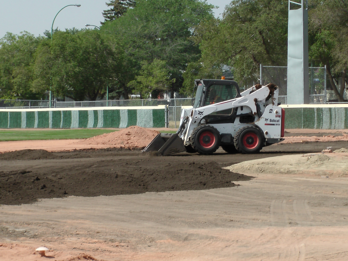 Aug 23/24/25 2018 Optimist Park Renovations Leveling of Top Soil and start on Pitcher Mound and Home Plate Pics and Video