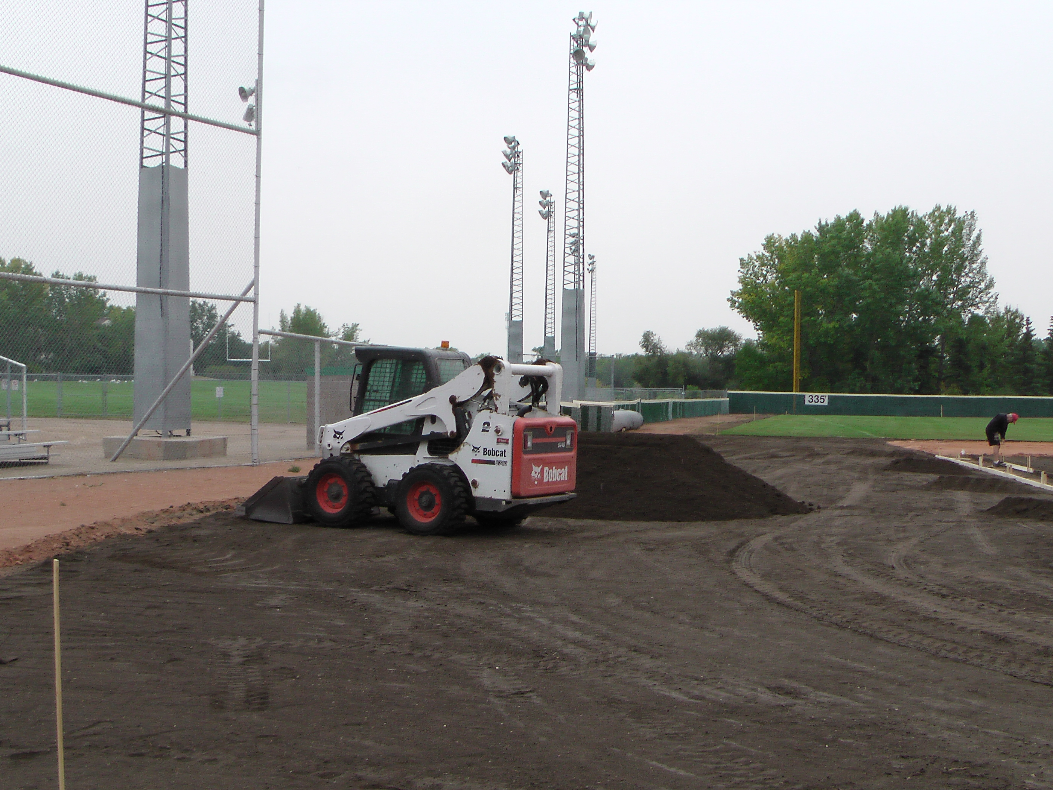 Aug 26/27 2018 Optimist Park Renovations, Continue Leveling Top Soil, More Top Soil added, Digging/Leveling Base Lines/Start Level Shale - Image 10