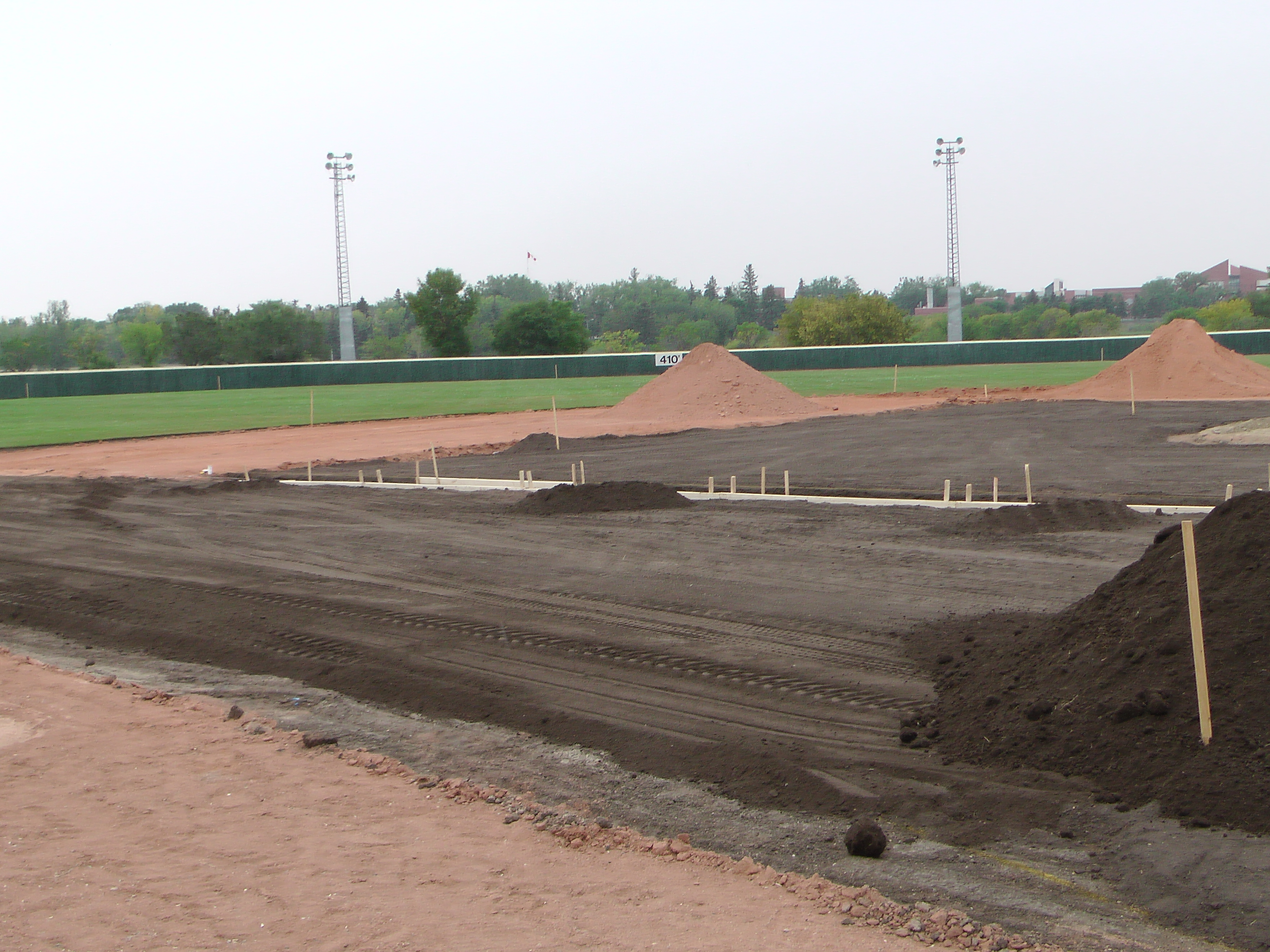 Aug 26/27 2018 Optimist Park Renovations, Continue Leveling Top Soil, More Top Soil added, Digging/Leveling Base Lines/Start Level Shale - Image 13