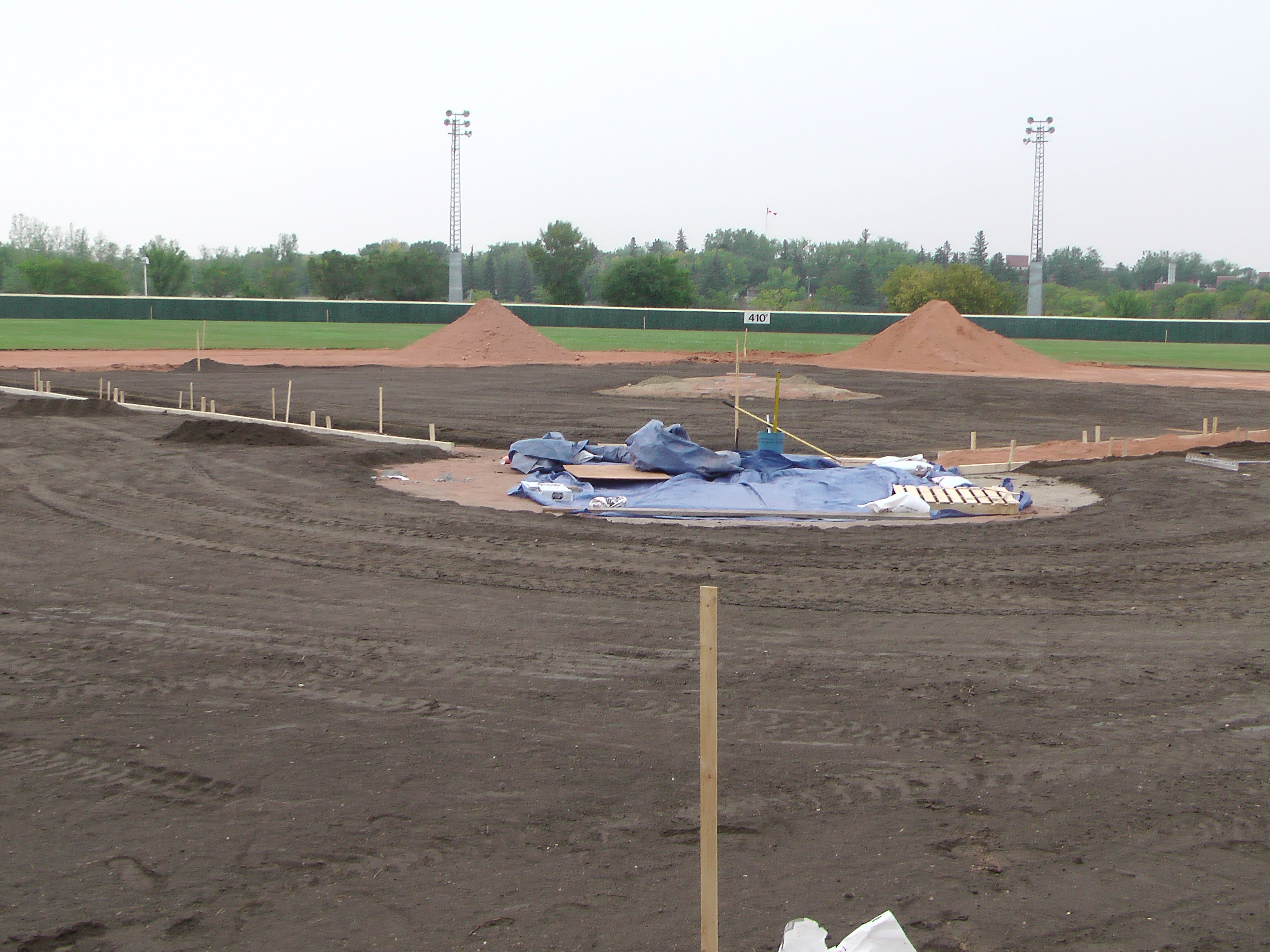Aug 26/27 2018 Optimist Park Renovations, Continue Leveling Top Soil, More Top Soil added, Digging/Leveling Base Lines/Start Level Shale - Image 14