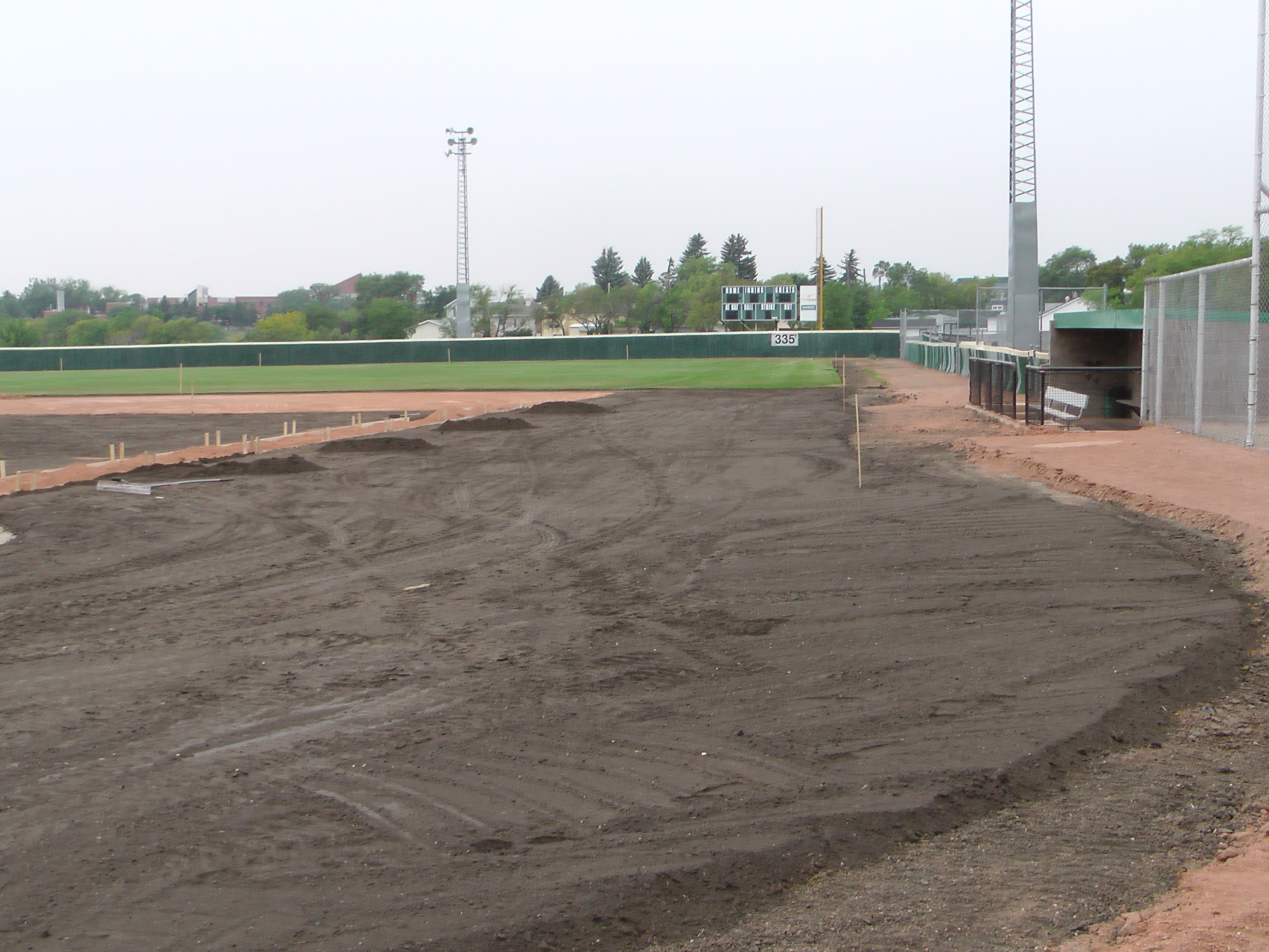 Aug 26/27 2018 Optimist Park Renovations, Continue Leveling Top Soil, More Top Soil added, Digging/Leveling Base Lines/Start Level Shale - Image 15