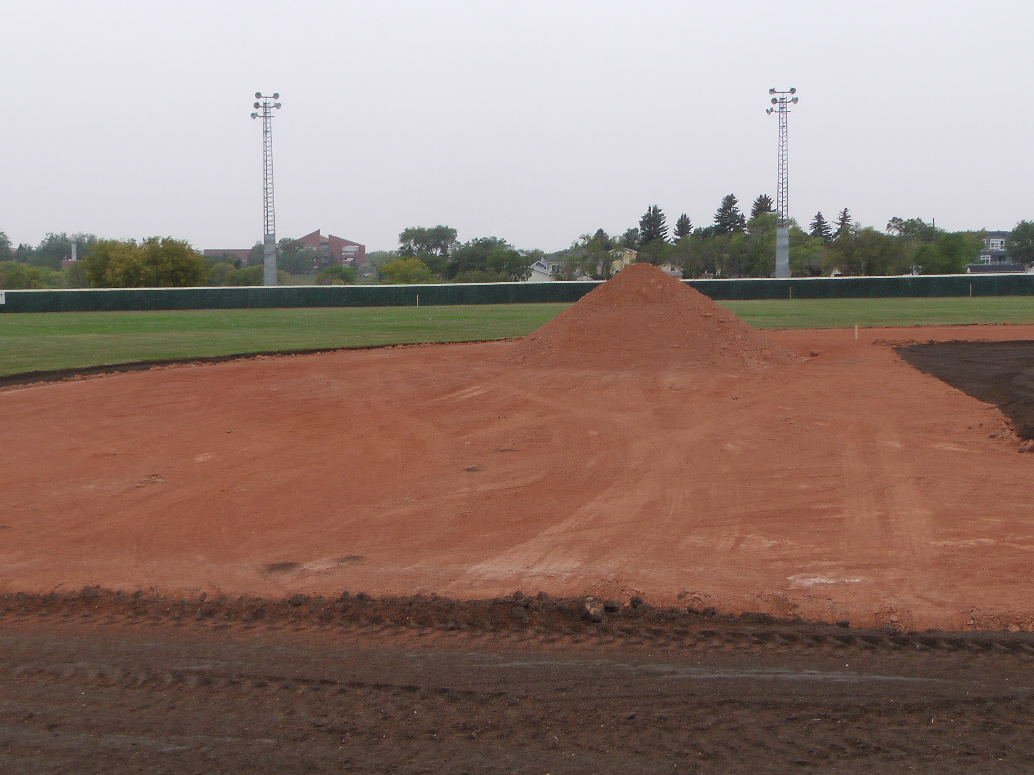 Aug 26/27 2018 Optimist Park Renovations, Continue Leveling Top Soil, More Top Soil added, Digging/Leveling Base Lines/Start Level Shale - Image 19