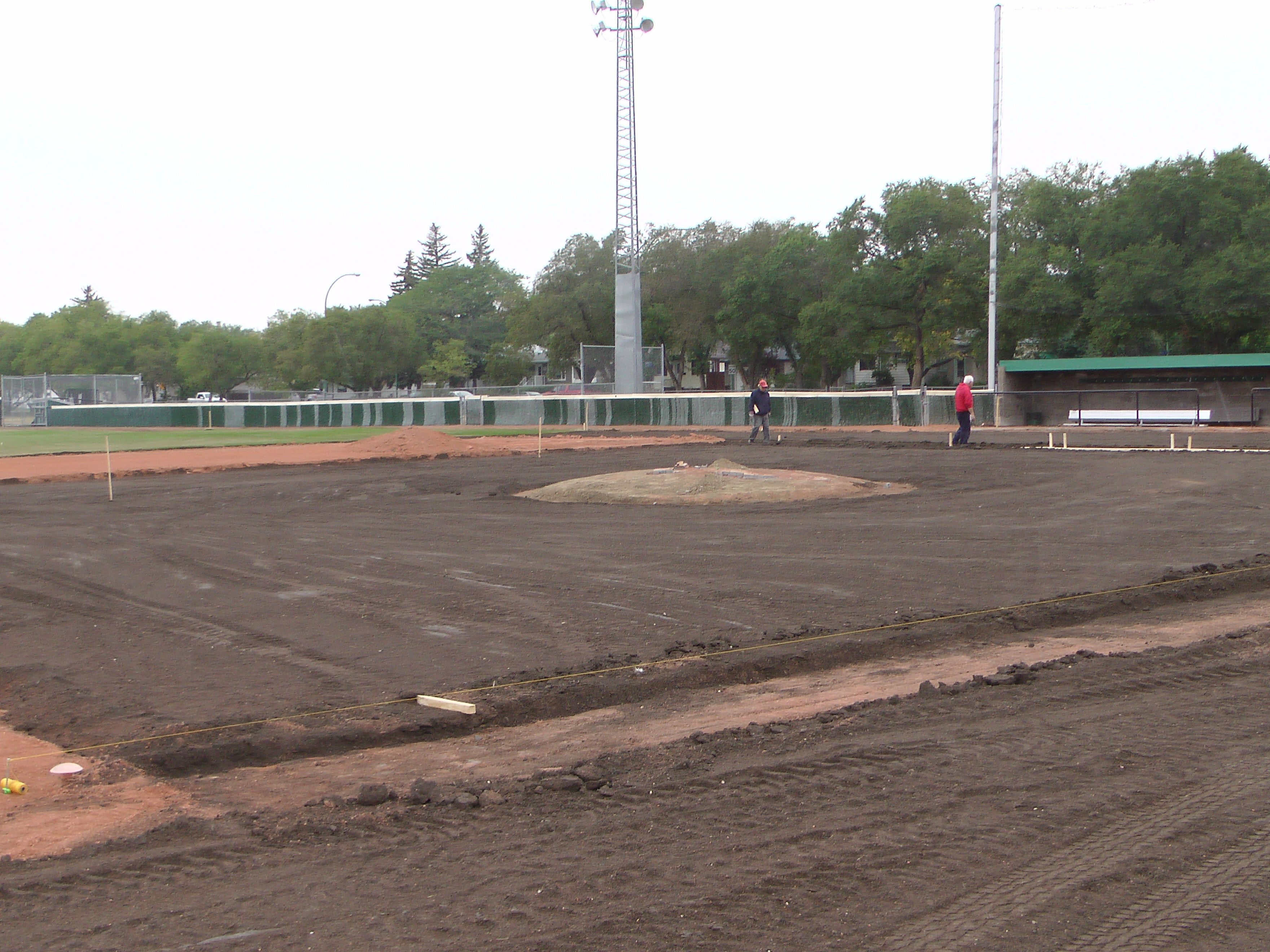 Aug 26/27 2018 Optimist Park Renovations, Continue Leveling Top Soil, More Top Soil added, Digging/Leveling Base Lines/Start Level Shale - Image 21