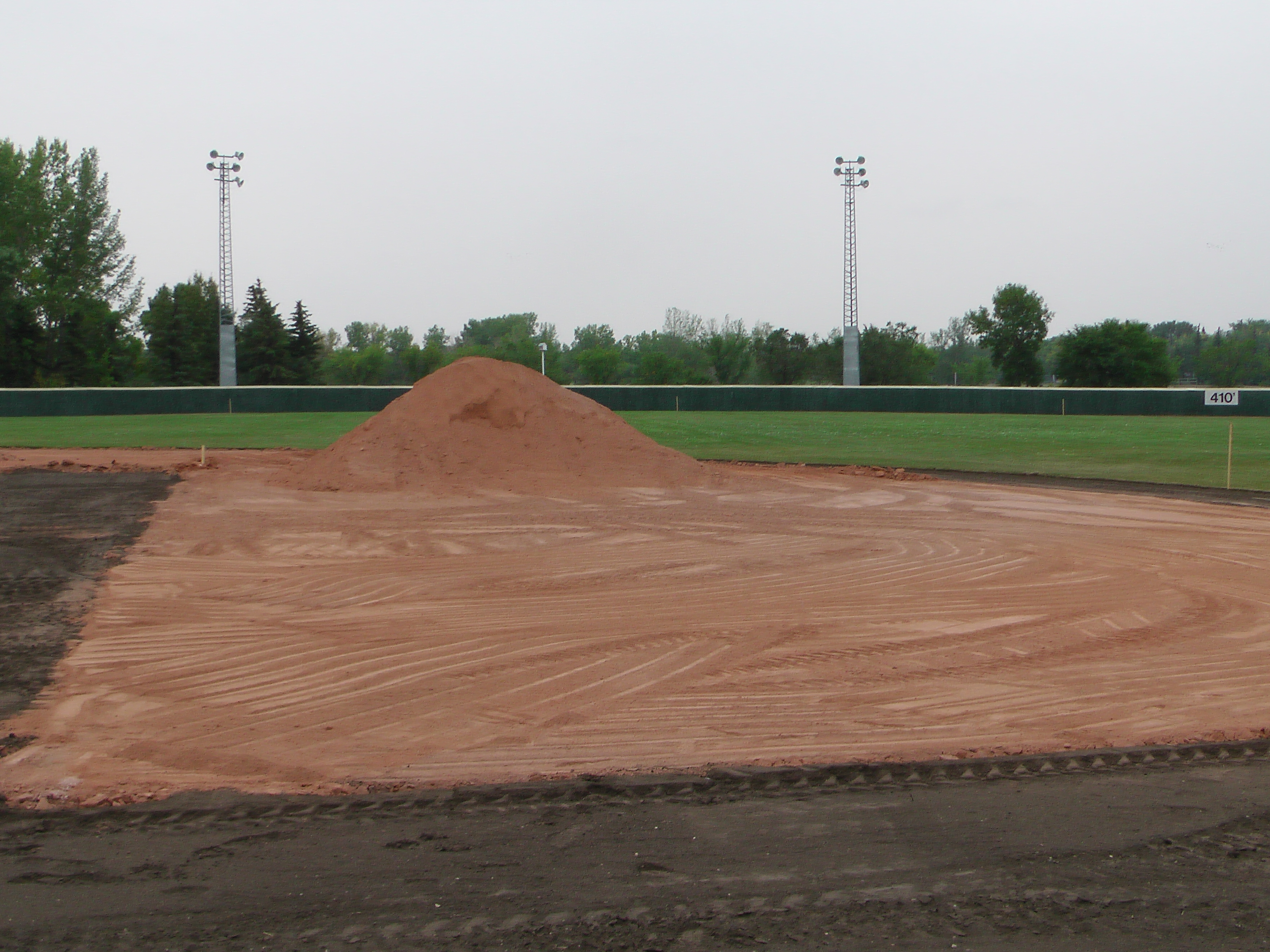 Aug 26/27 2018 Optimist Park Renovations, Continue Leveling Top Soil, More Top Soil added, Digging/Leveling Base Lines/Start Level Shale - Image 5