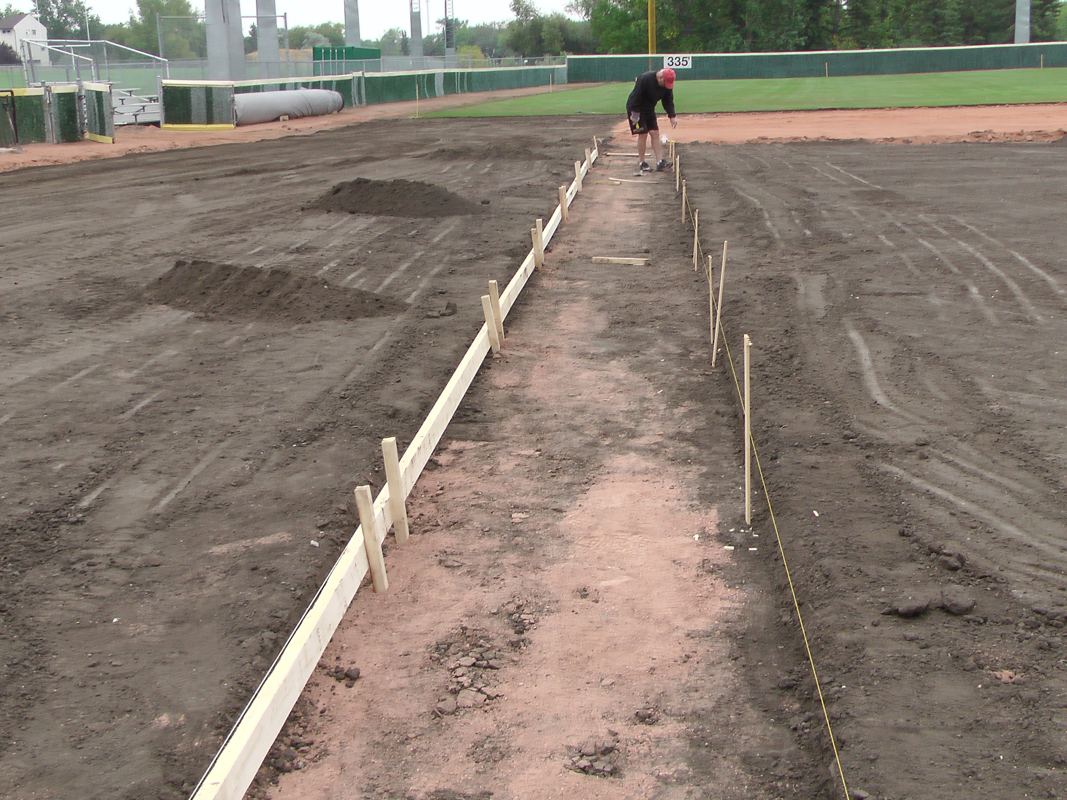 Aug 26/27 2018 Optimist Park Renovations, Continue Leveling Top Soil, More Top Soil added, Digging/Leveling Base Lines/Start Level Shale - Image 9