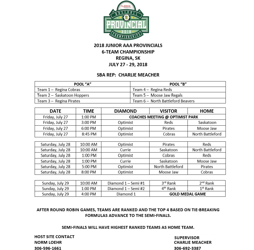 Pictures/Game Results/Schedule Junior Provincial Tournament 2018 !!! - Image 1
