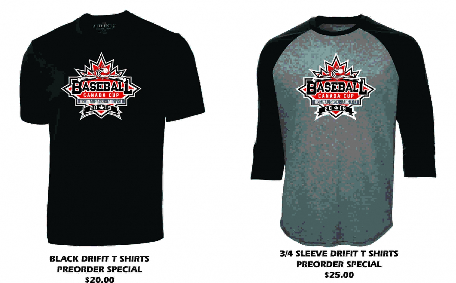 Pre Order Merchandise for 2019 Baseball Canada Cup!
