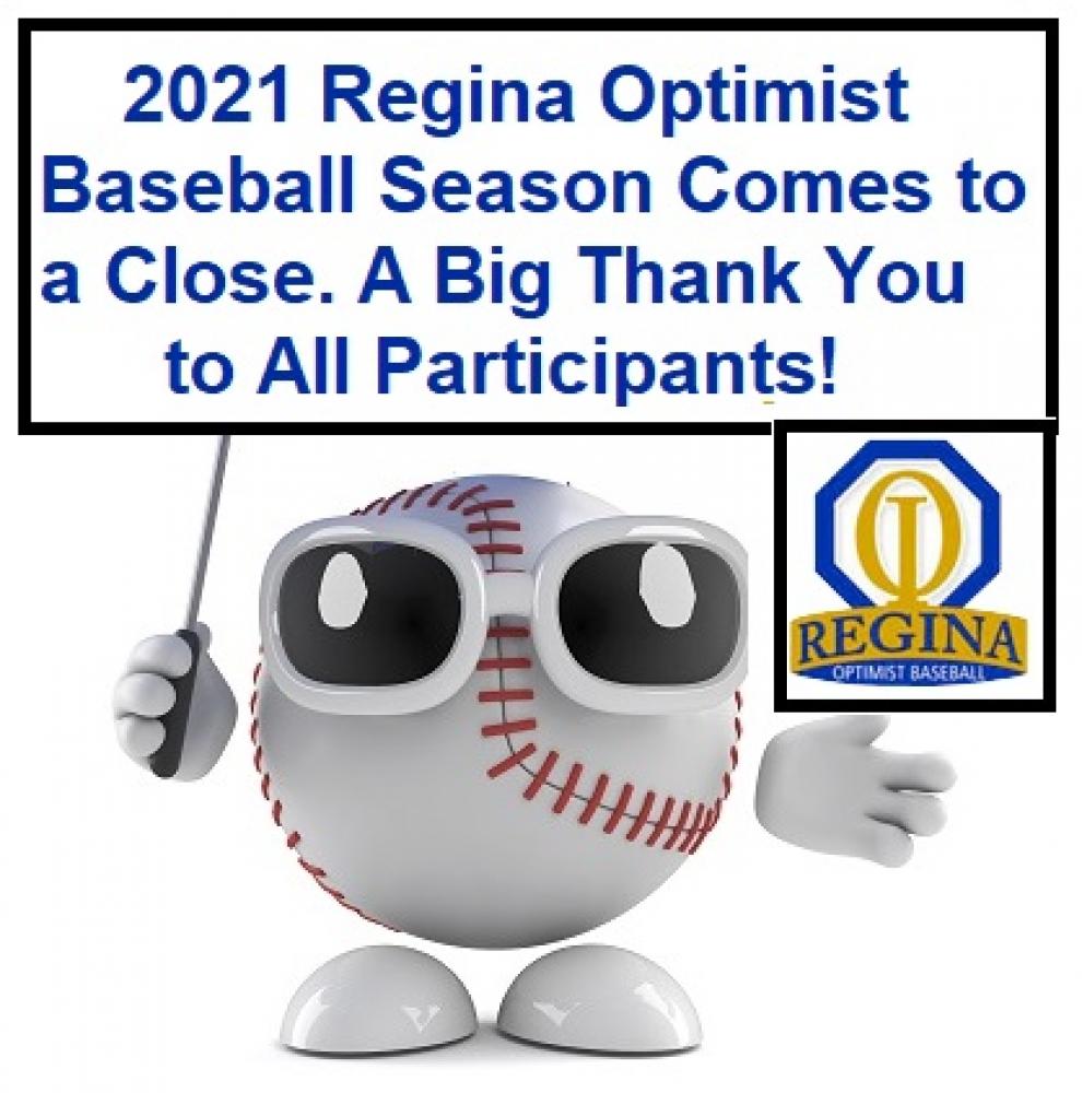 Regina Optimist Baseball Season/Park Comes to a Close....