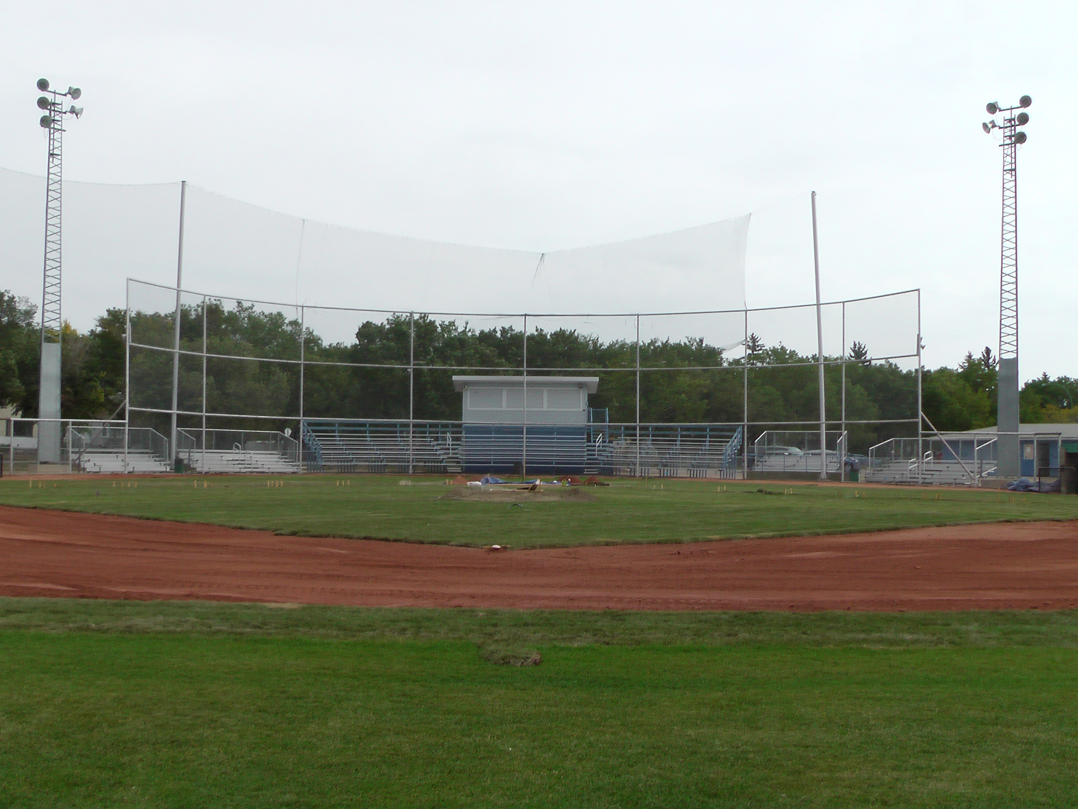 Sept 7 & 8 2018, Optimist Park Field Renovations, sod down being watered - Image 12