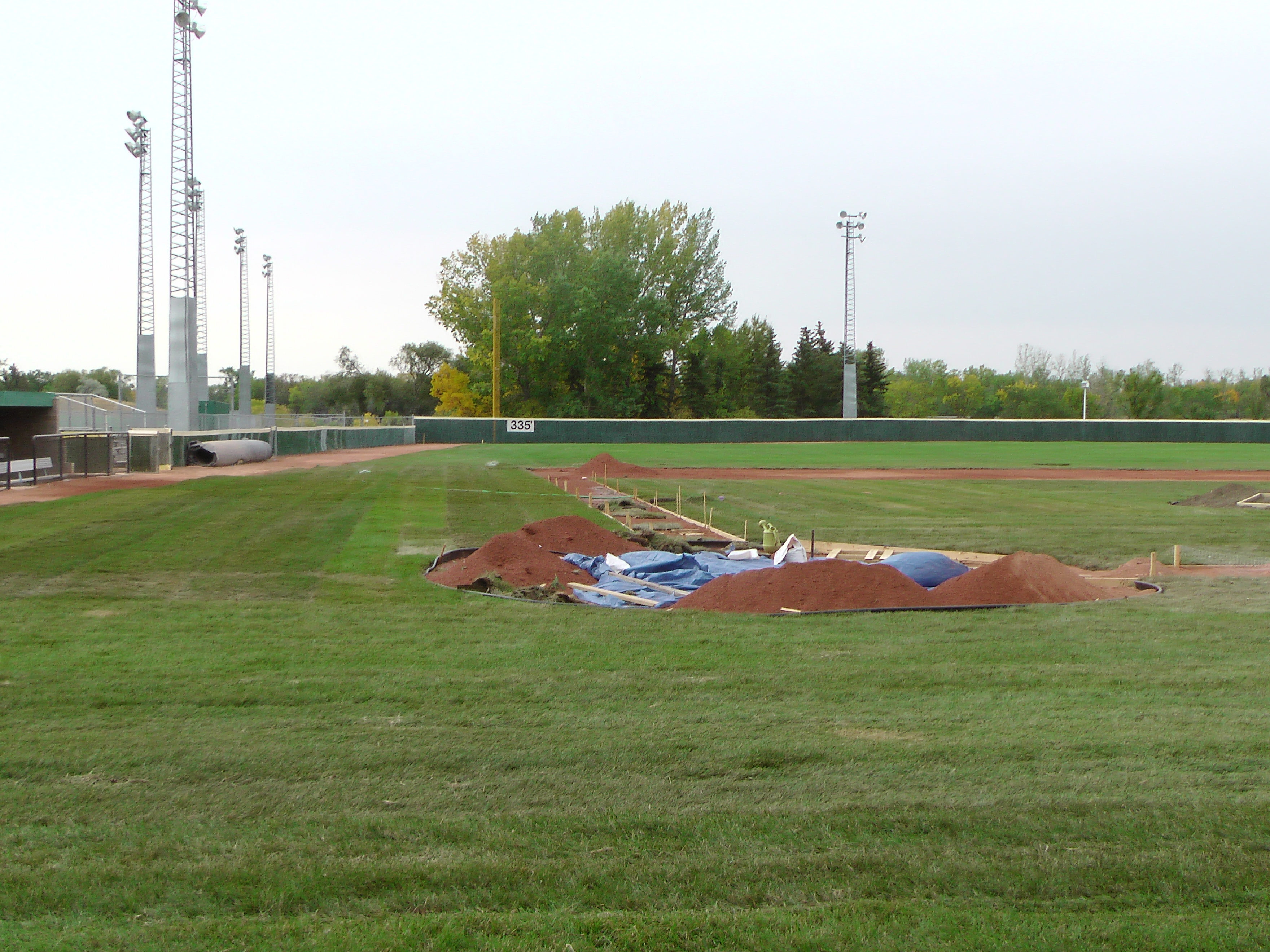 Sept 7 & 8 2018, Optimist Park Field Renovations, sod down being watered - Image 15