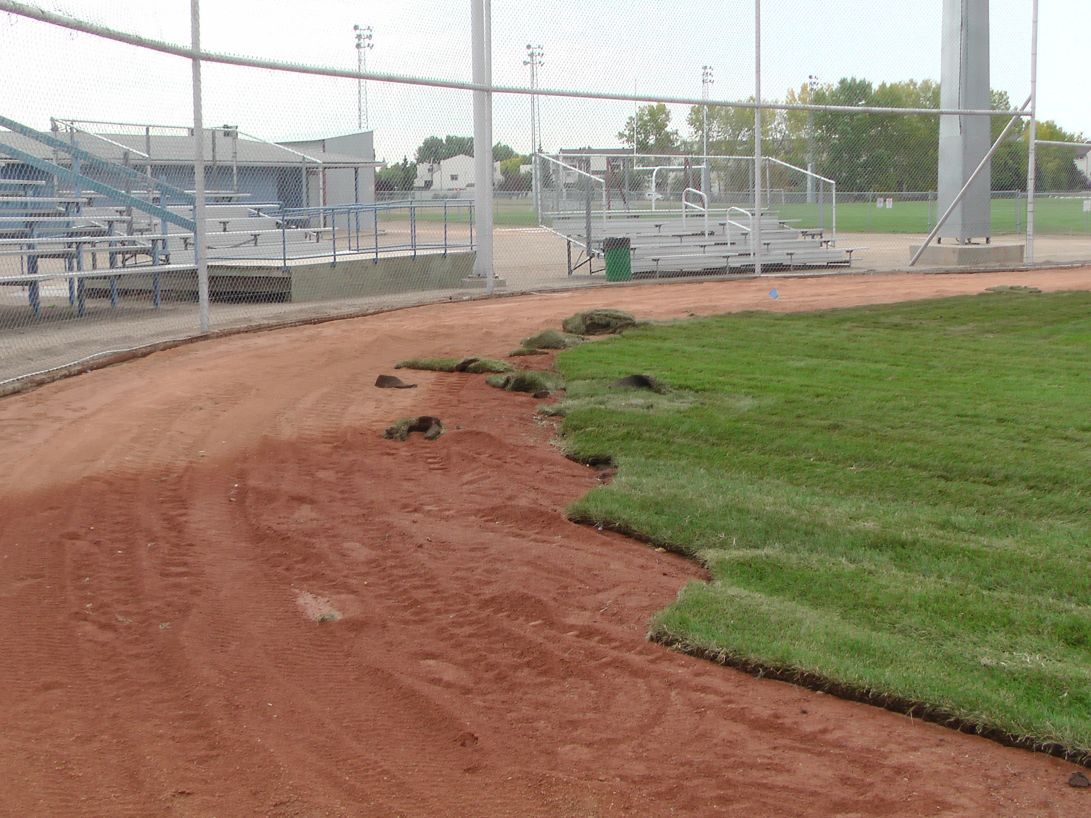 Sept 7 & 8 2018, Optimist Park Field Renovations, sod down being watered - Image 16