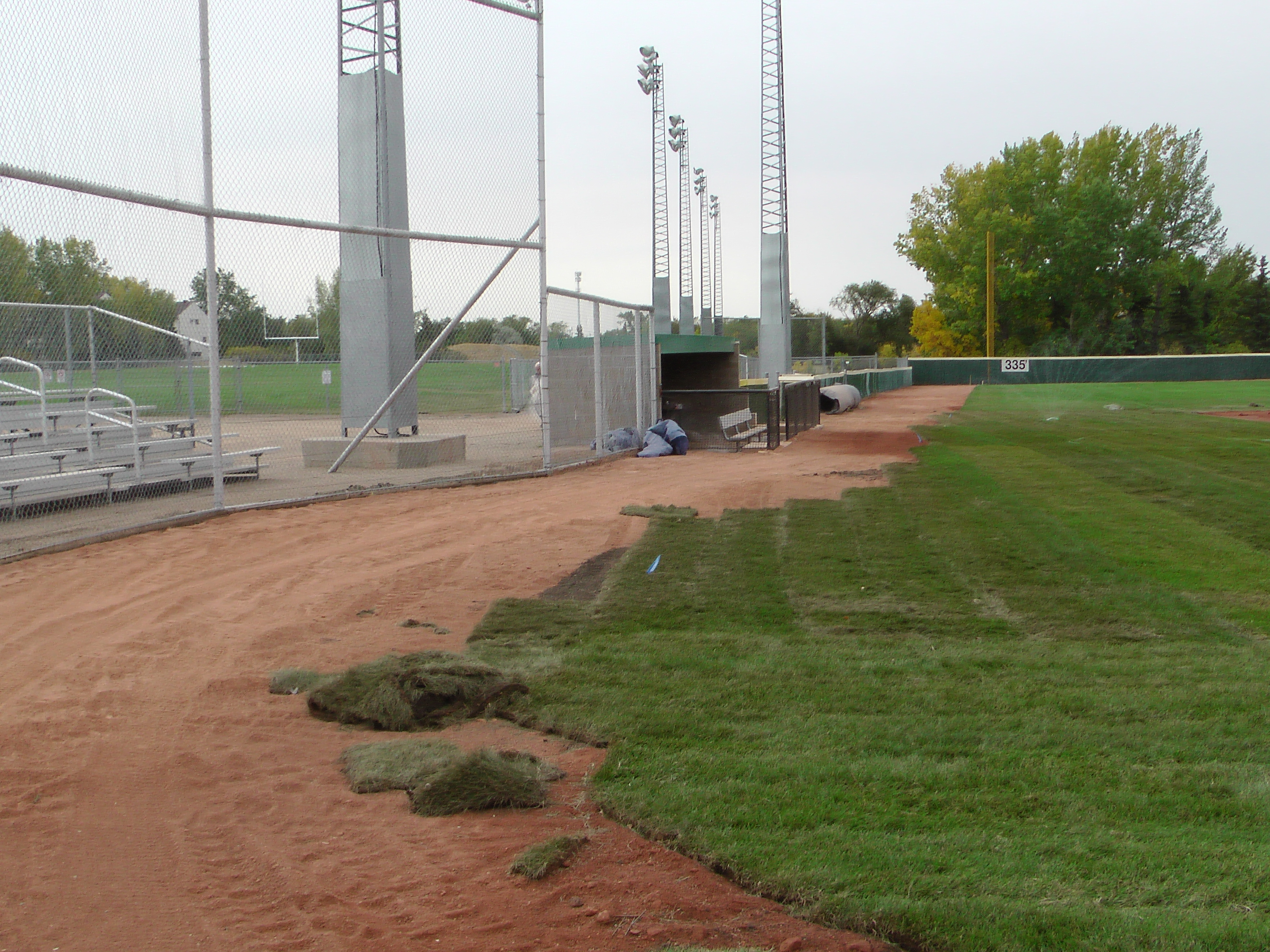 Sept 7 & 8 2018, Optimist Park Field Renovations, sod down being watered - Image 18