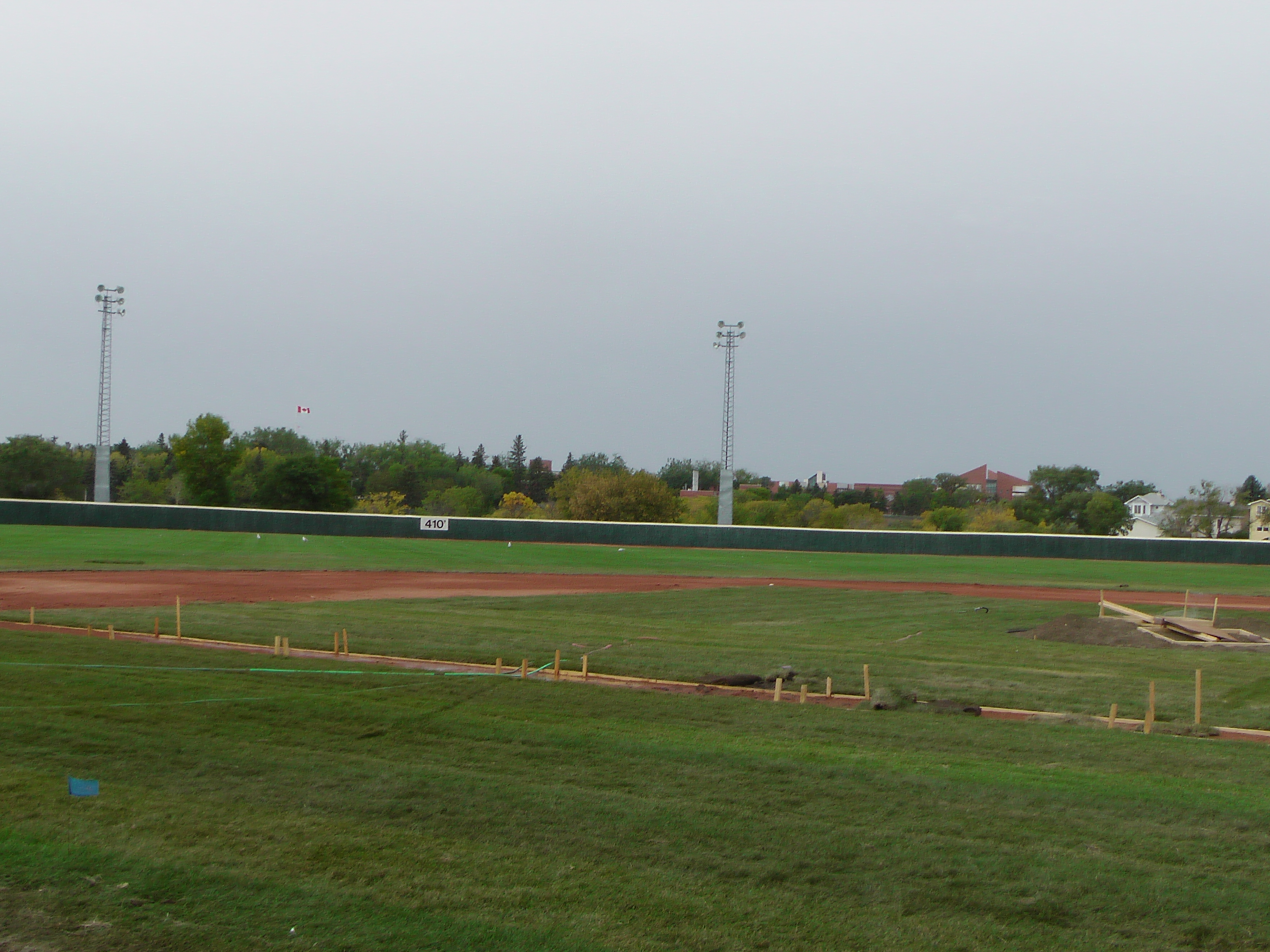 Sept 7 & 8 2018, Optimist Park Field Renovations, sod down being watered - Image 19