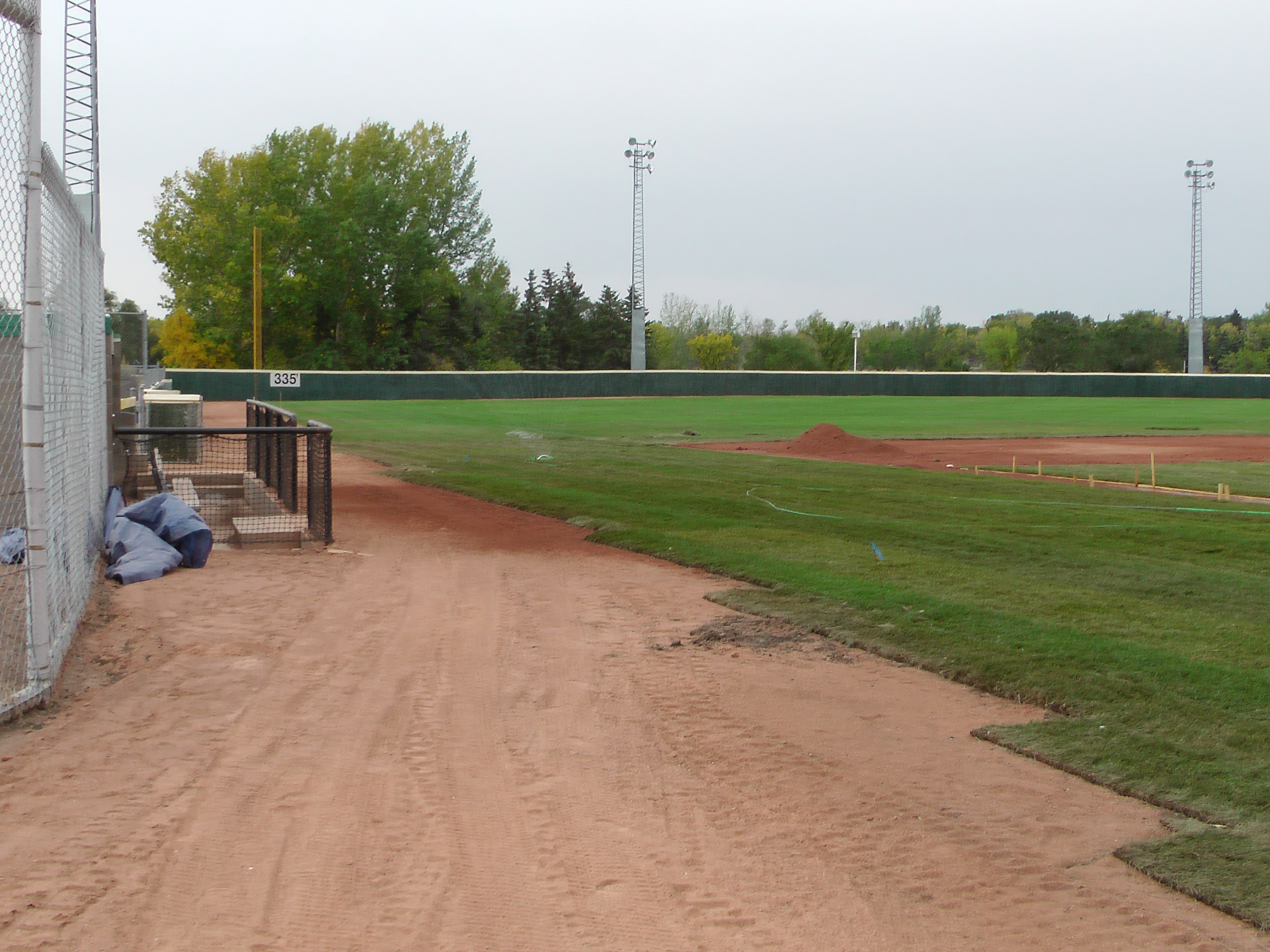 Sept 7 & 8 2018, Optimist Park Field Renovations, sod down being watered - Image 23
