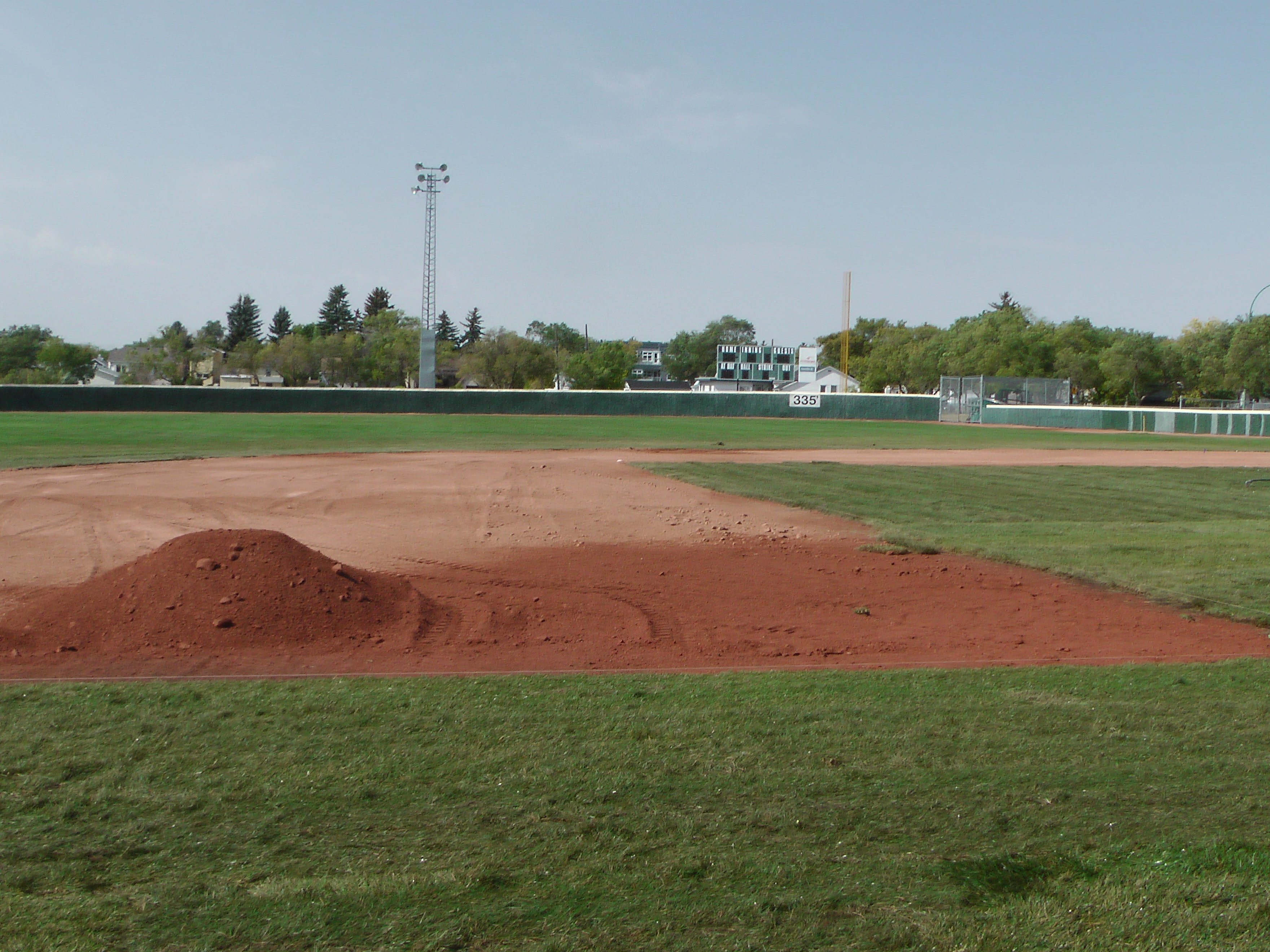 Sept 7 & 8 2018, Optimist Park Field Renovations, sod down being watered - Image 3