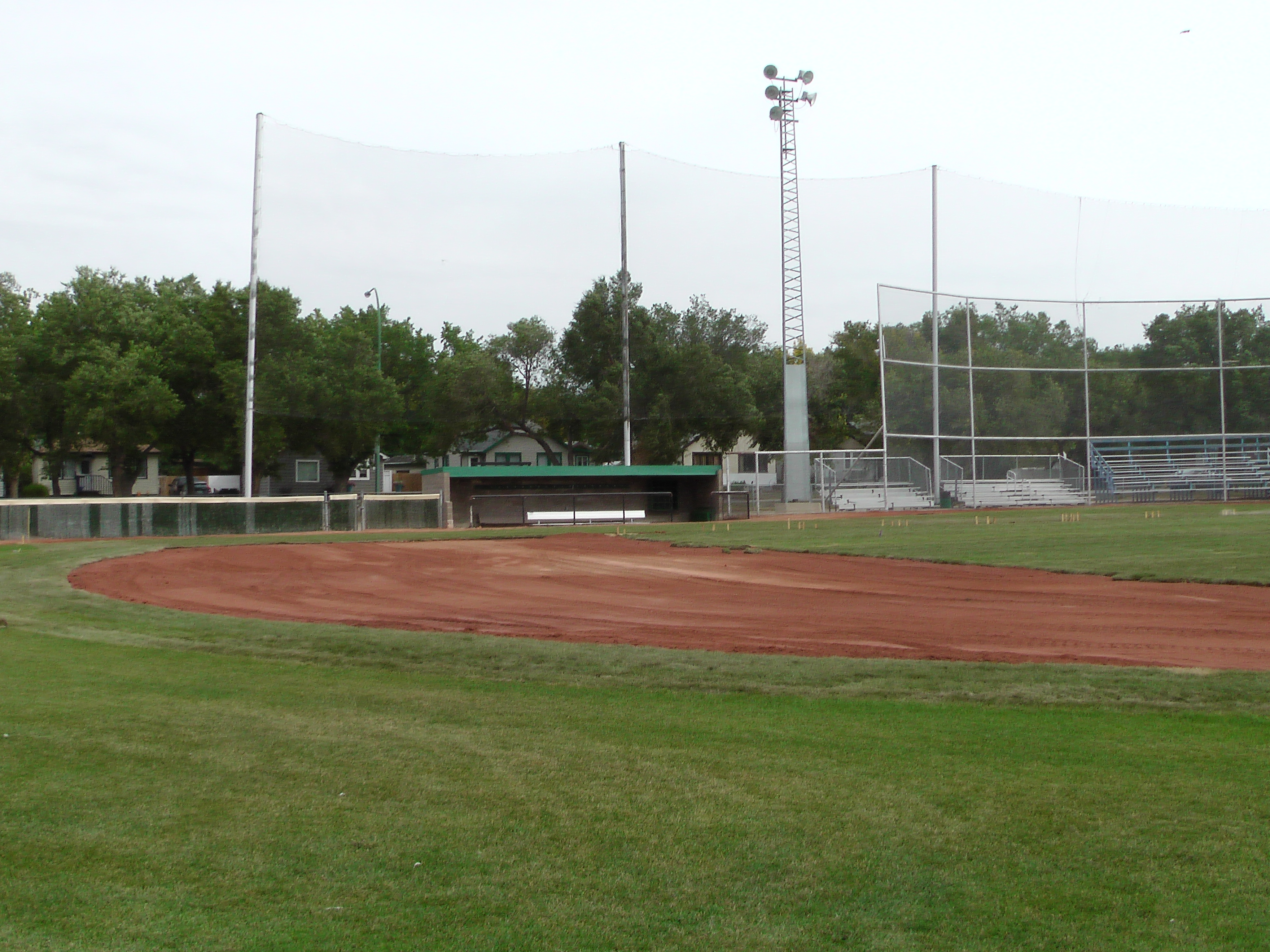 Sept 7 & 8 2018, Optimist Park Field Renovations, sod down being watered - Image 9