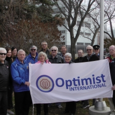 Optimist Club of Regina, 100th Anniversary Optimist International Flag Rasing
