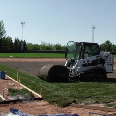 Sept 5 2018 Optimist Park Field Renovations, Placing New Sod/Leveling!