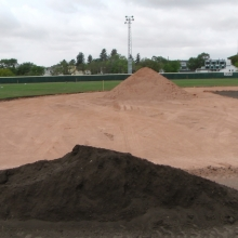 2018 Aug 23/24/25 Optimist Park Field Renovations Top Soil Leveling