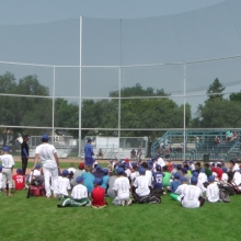 Aug 19 2014 Blue Jays Camp at Regina Optimist Baseball Park