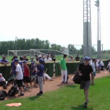 Aug 19 2014 Blue Jay Camp Regina Optimist Baseball Park